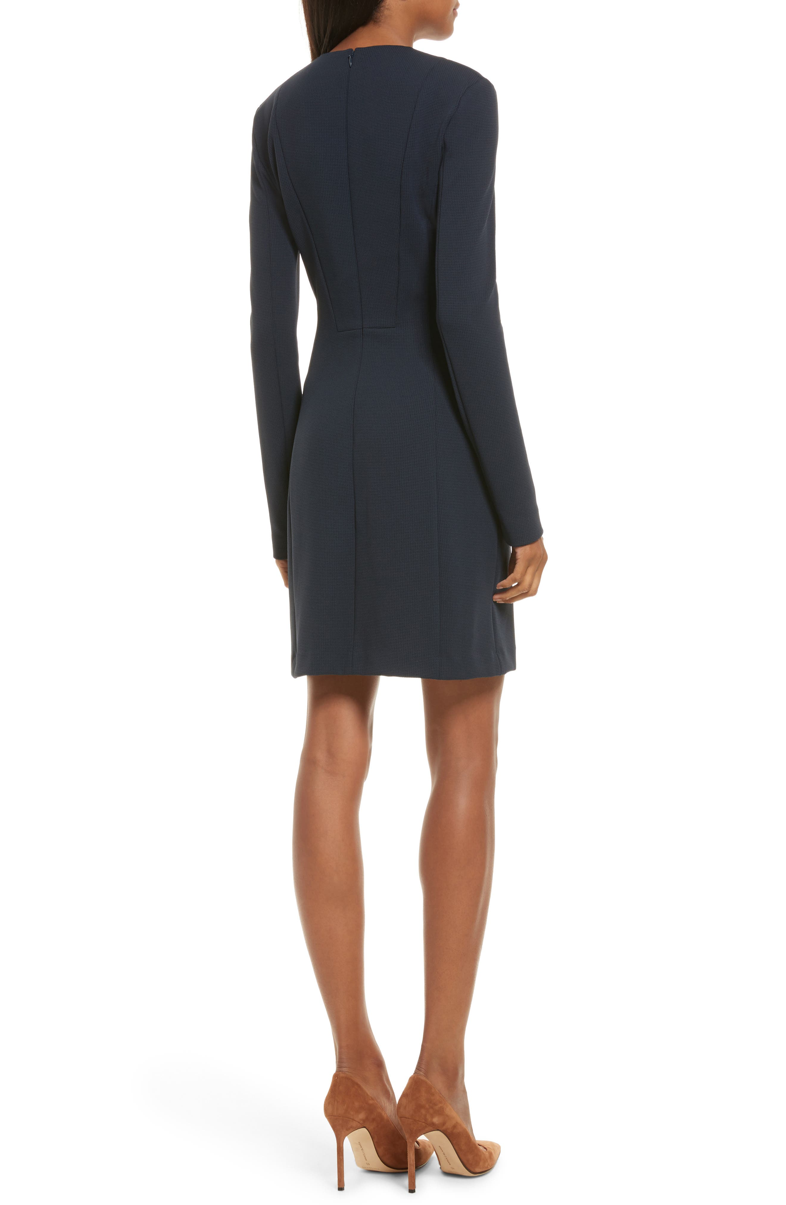 Tuscon Knit A-Line Dress,                             Alternate thumbnail 2, color,                             Deep Navy