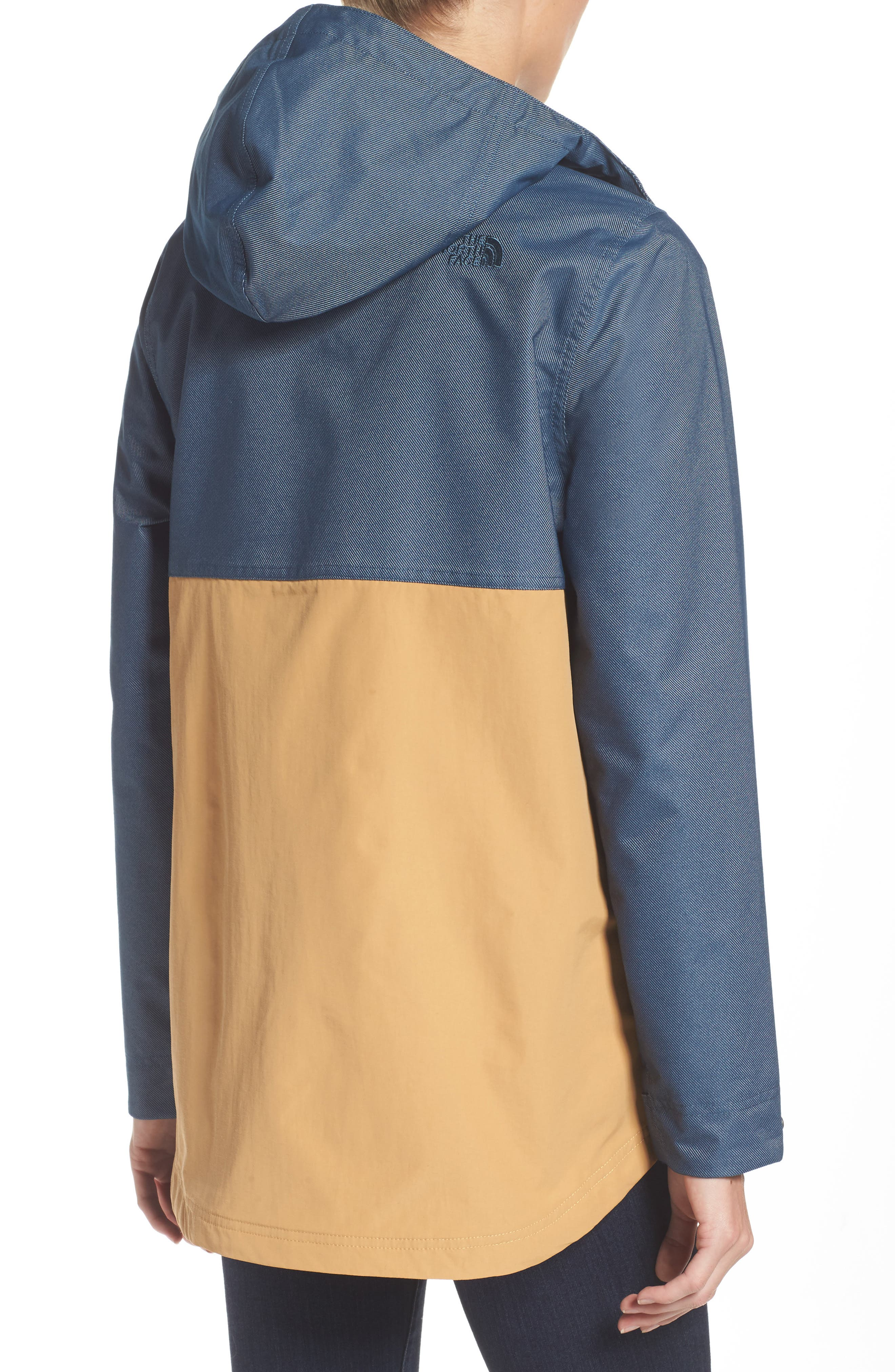 Cadet Anorak Rain Jacket,                             Alternate thumbnail 2, color,                             Biscuit Tan Ink Blue