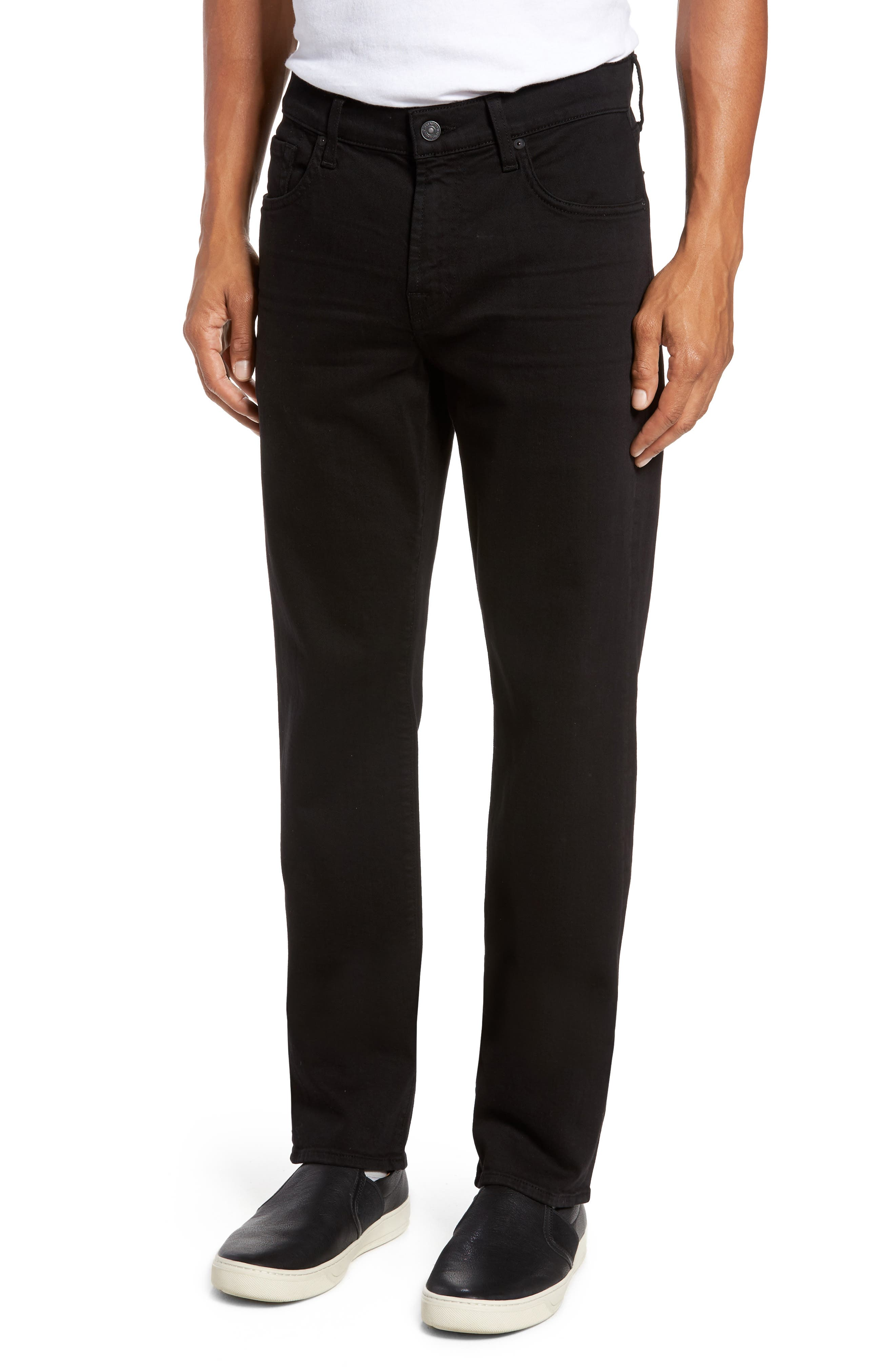 Main Image - 7 For All Mankind® Luxe Performance - Slimmy Slim Fit Jeans (Annex Black)