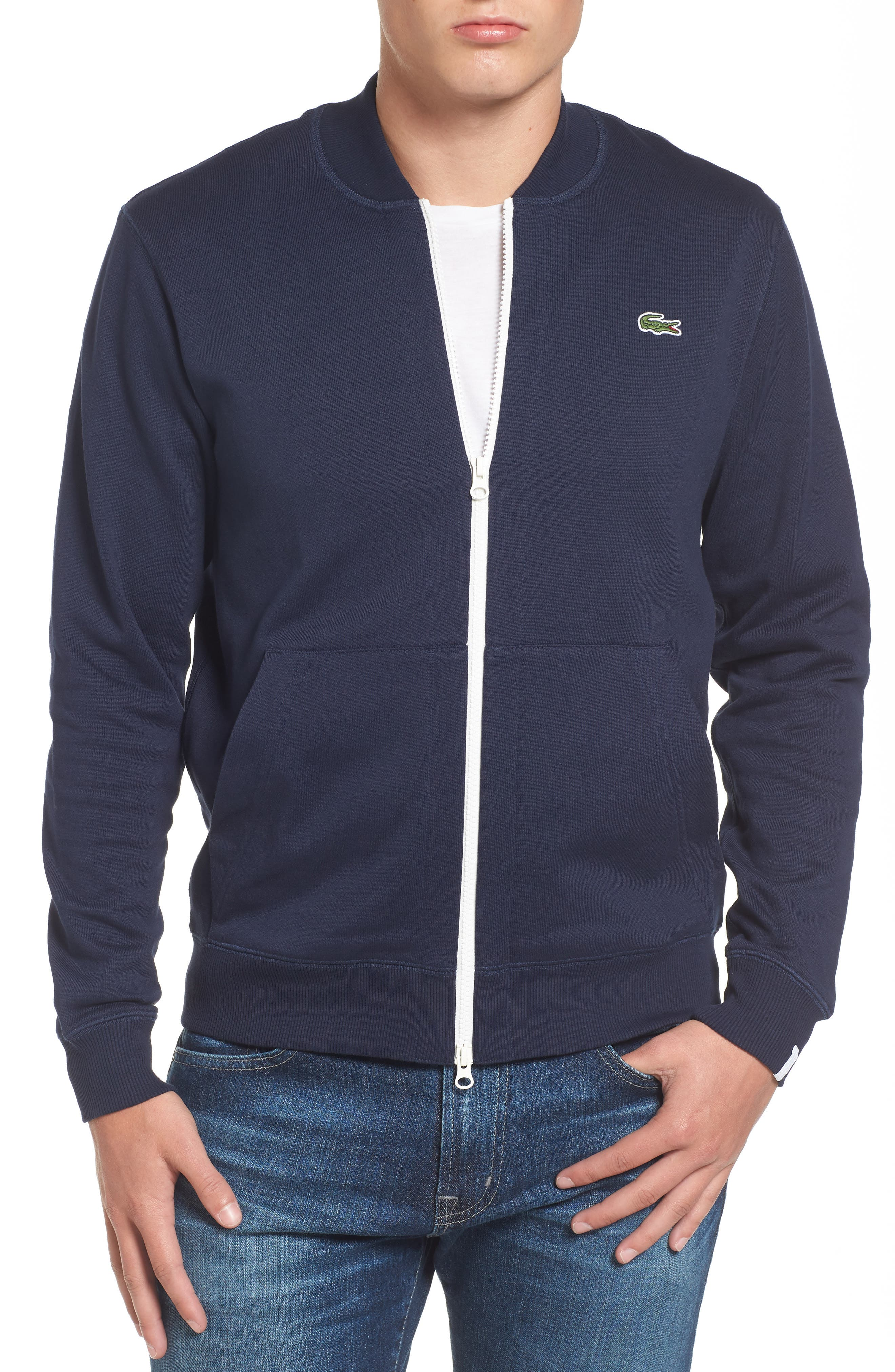 Main Image - Lacoste Banana Collar Zip Jacket