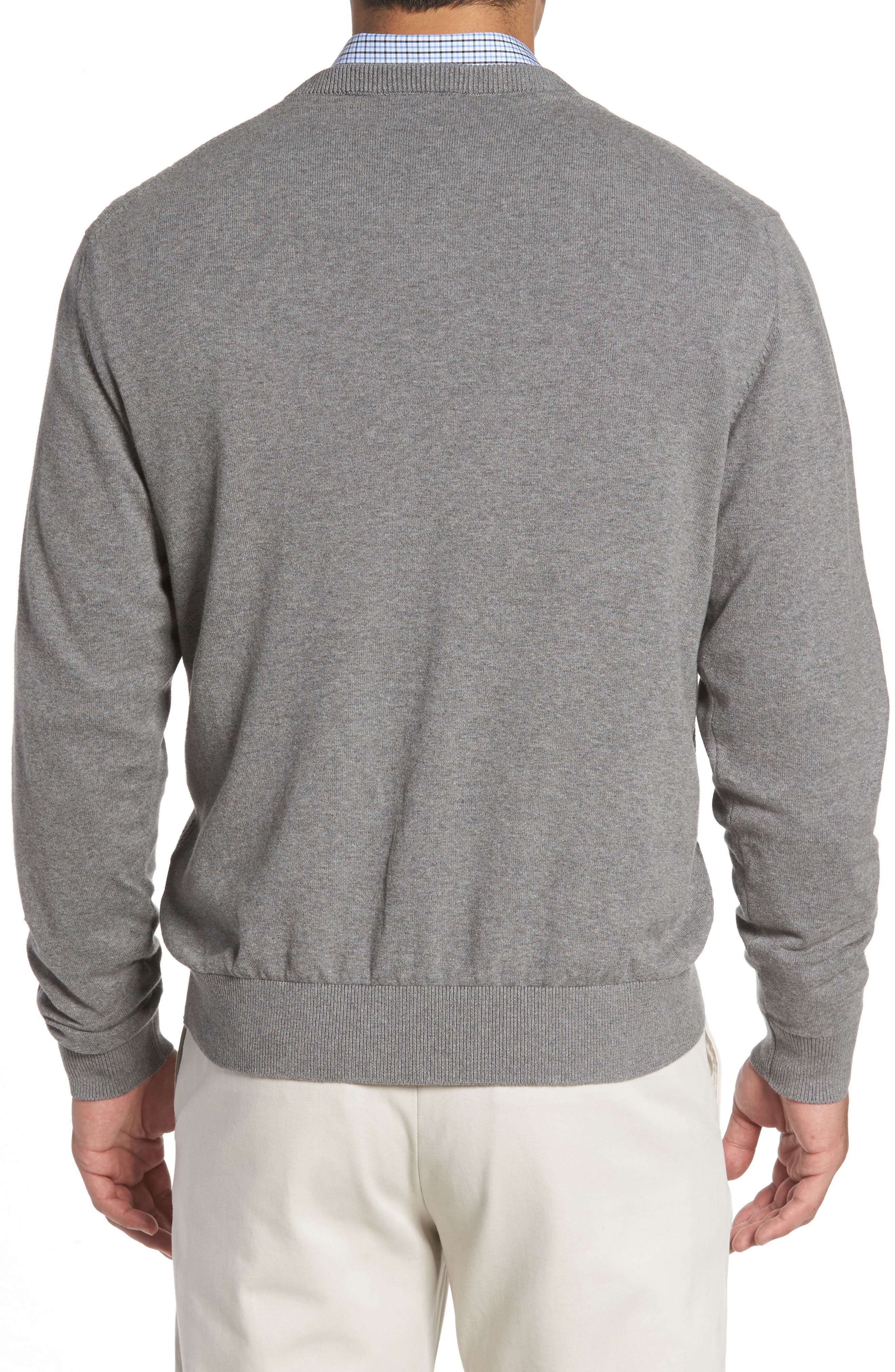 Bryant Rib-Knit V-Neck Sweater,                             Alternate thumbnail 2, color,                             Mid Grey Heather