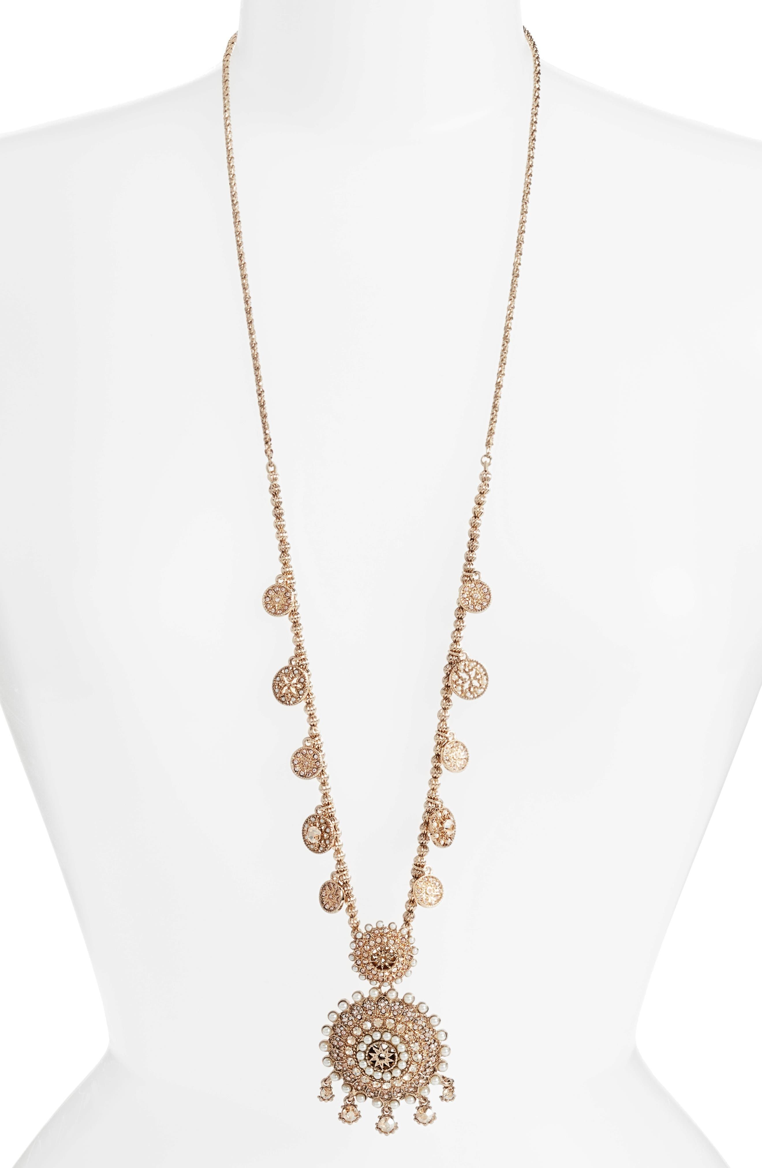 MARCHESA Pendant Necklace