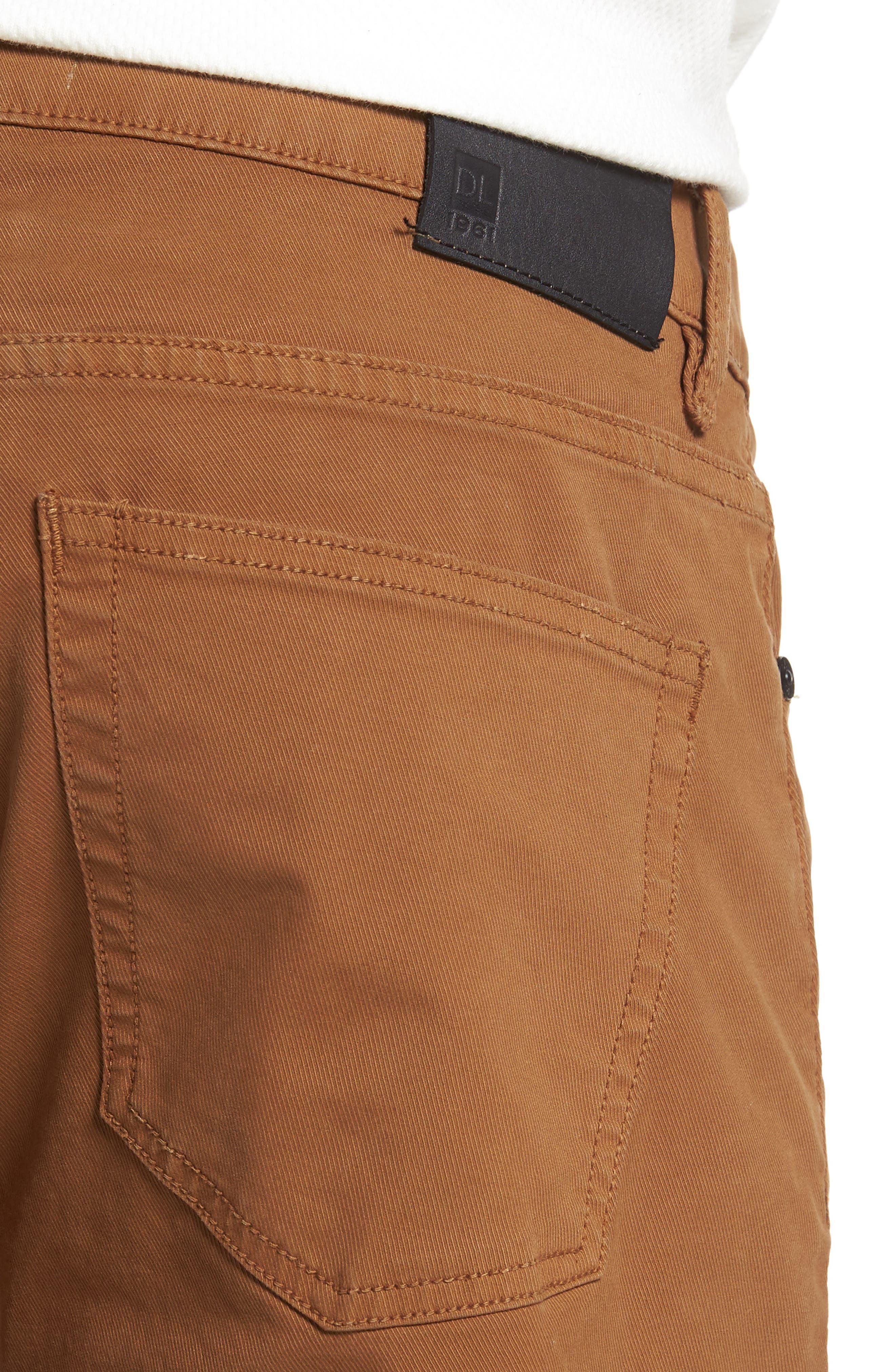 Nick Slim Fit Flat Front Pants,                             Alternate thumbnail 4, color,                             Sienna