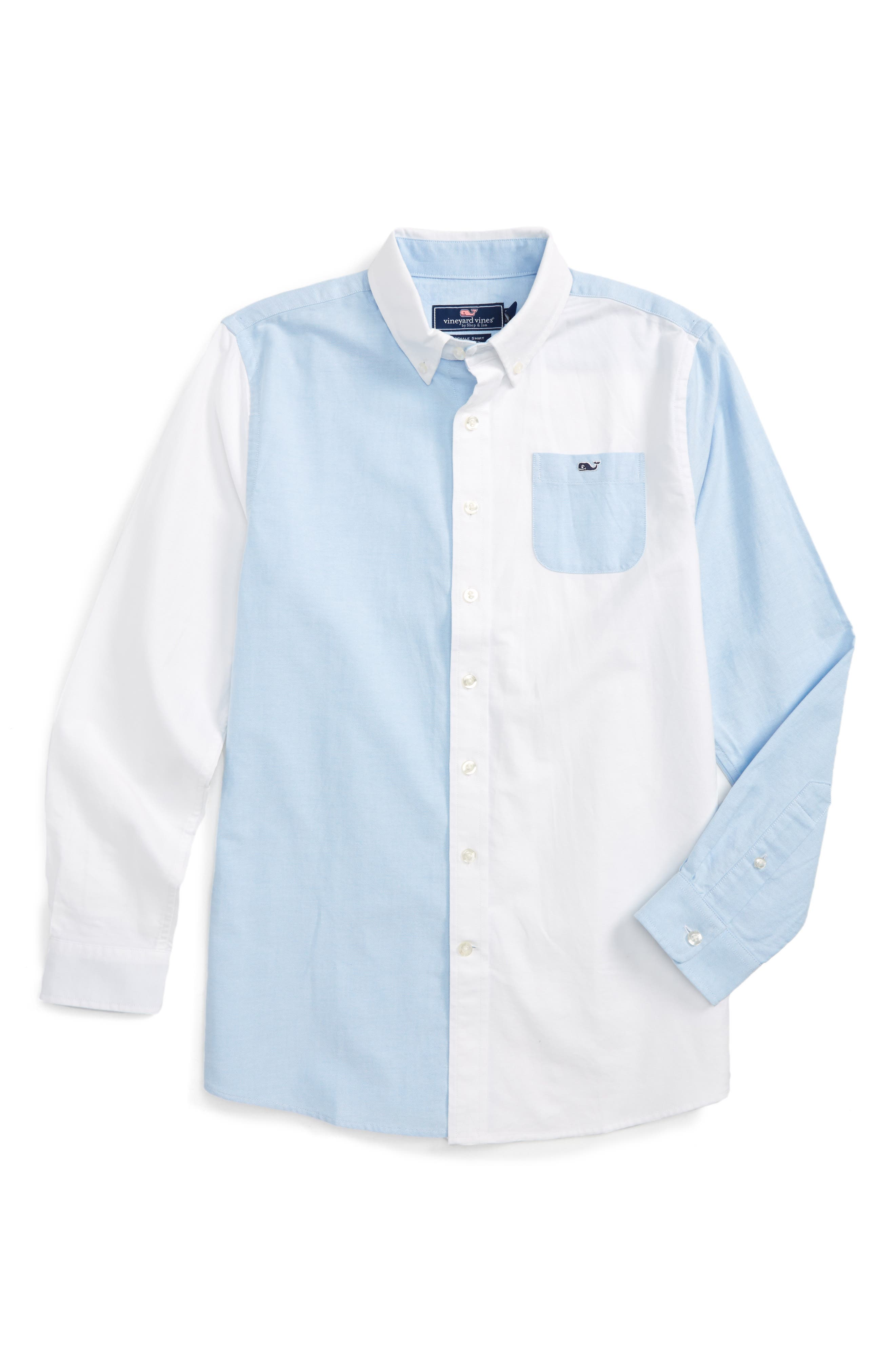 Alternate Image 1 Selected - vineyard vines Party Whale Oxford Shirt (Big Boys)