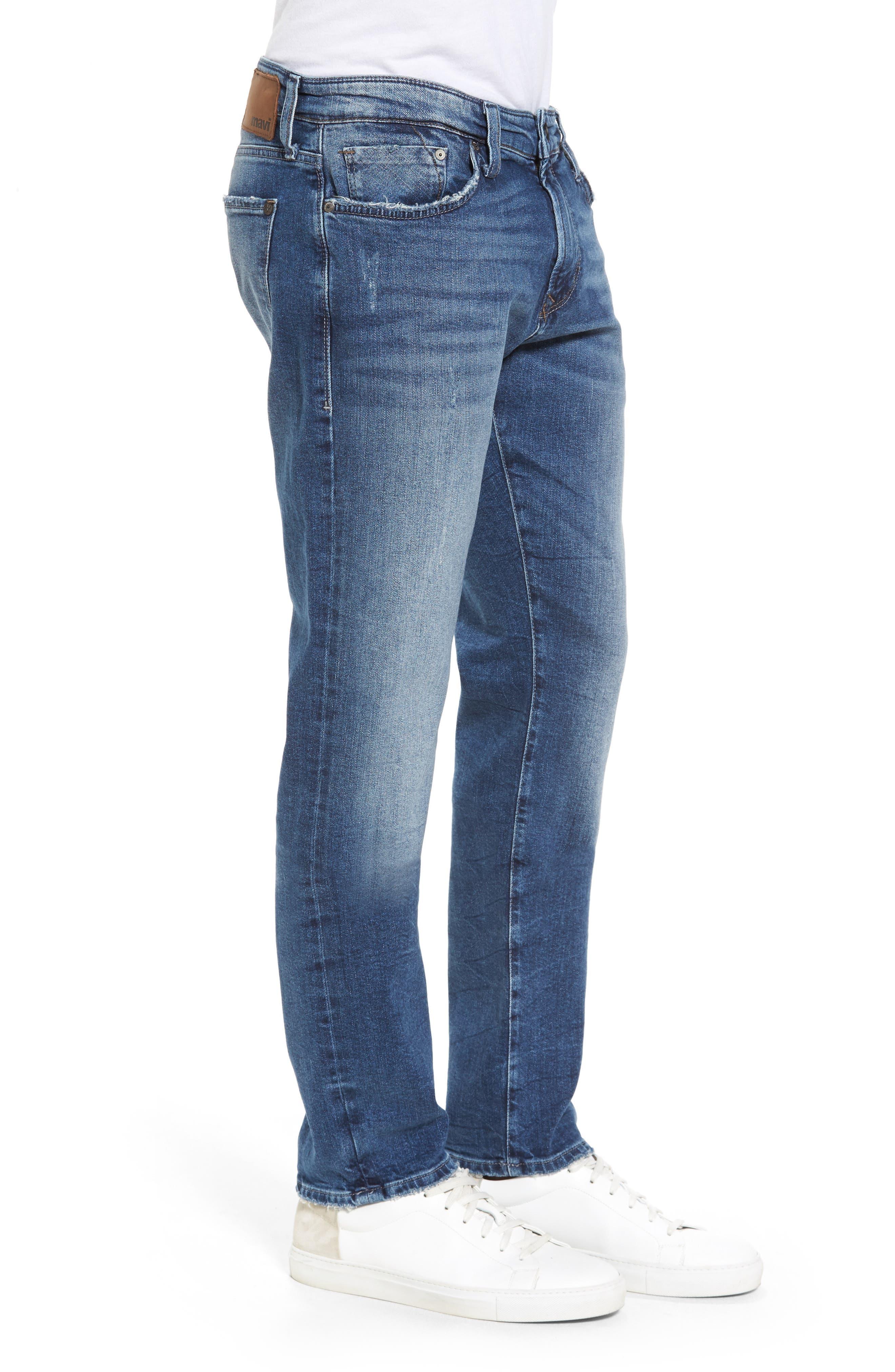 Alternate Image 3  - Mavi Jeans Marcus Slim Straight Leg Jeans (Destroyed Authentic Vintage)