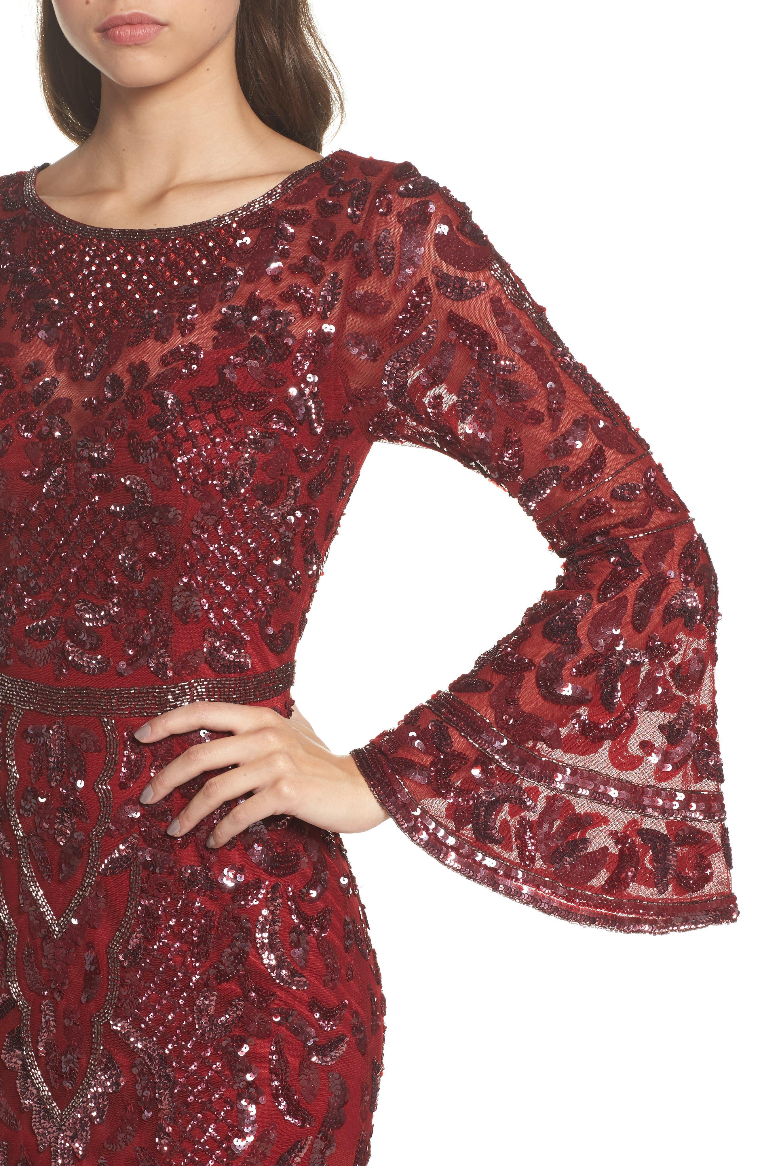 Alternate Image 4  - Mac Duggal Sequin Bell Sleeve Gown