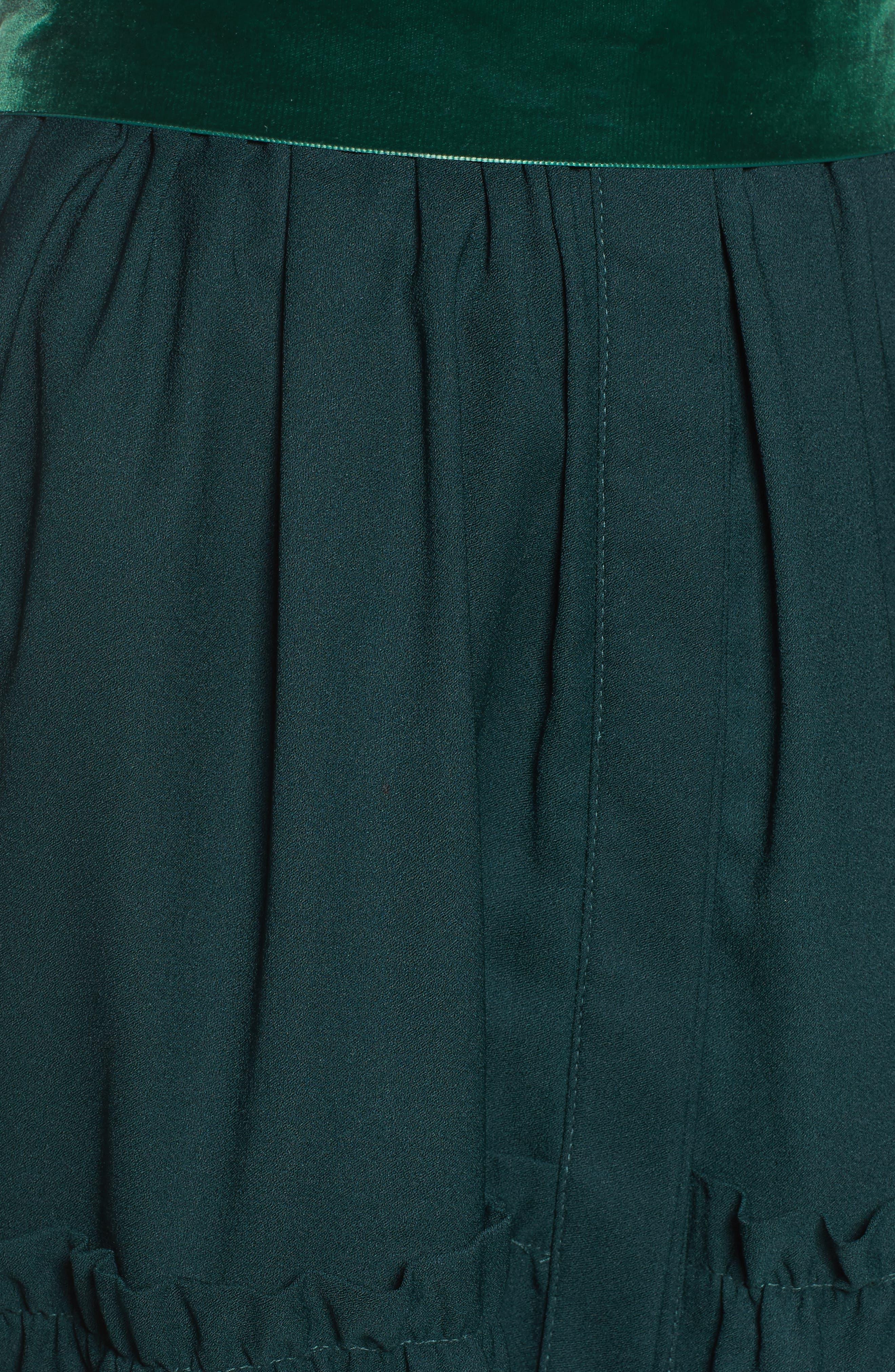 Alternate Image 6  - Eliza J Cold Shoulder Shirtdress (Regular & Petite)