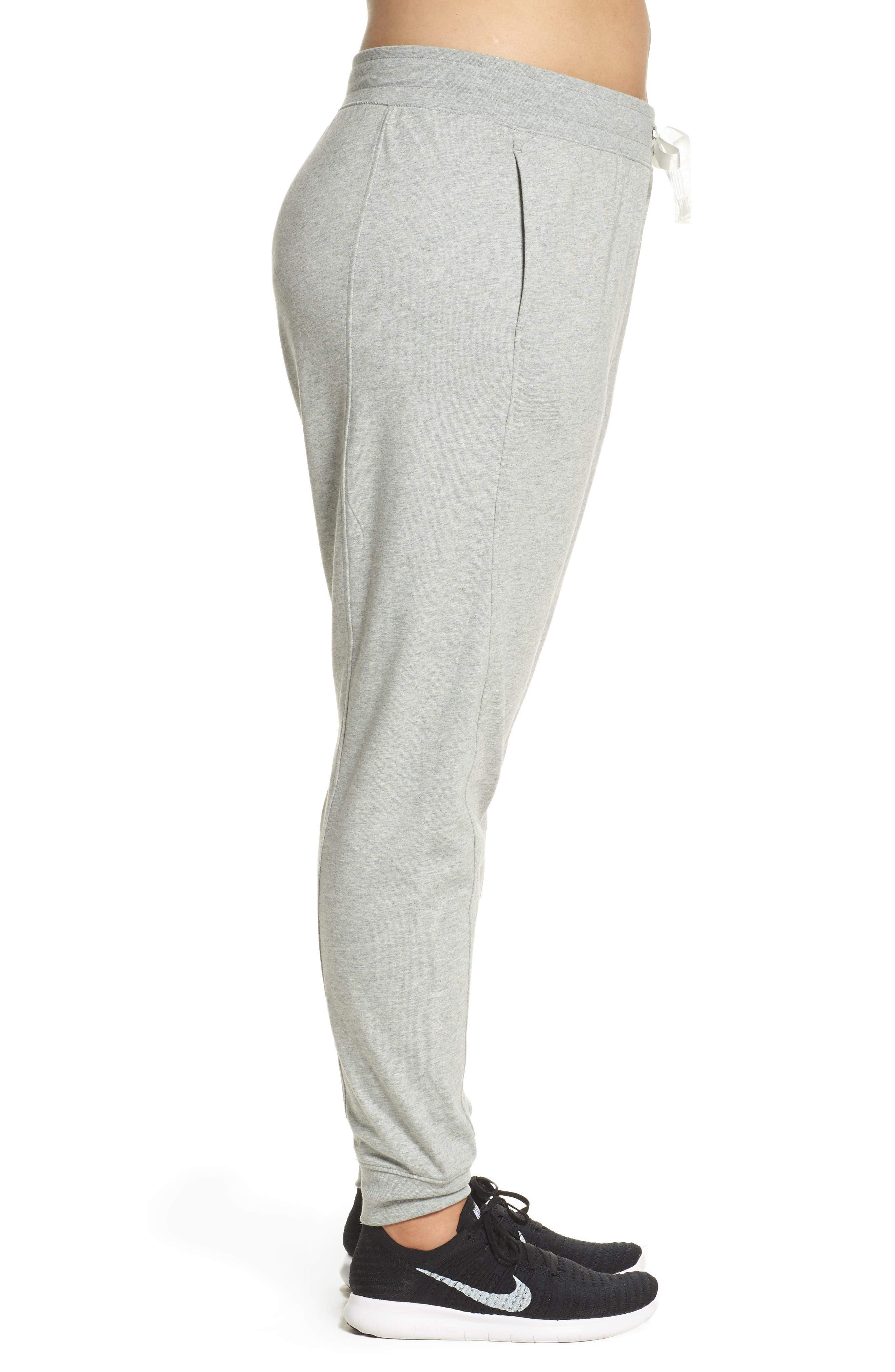 Sportswear Gym Classic Pants,                             Alternate thumbnail 3, color,                             Dk Grey Heather/ Sail