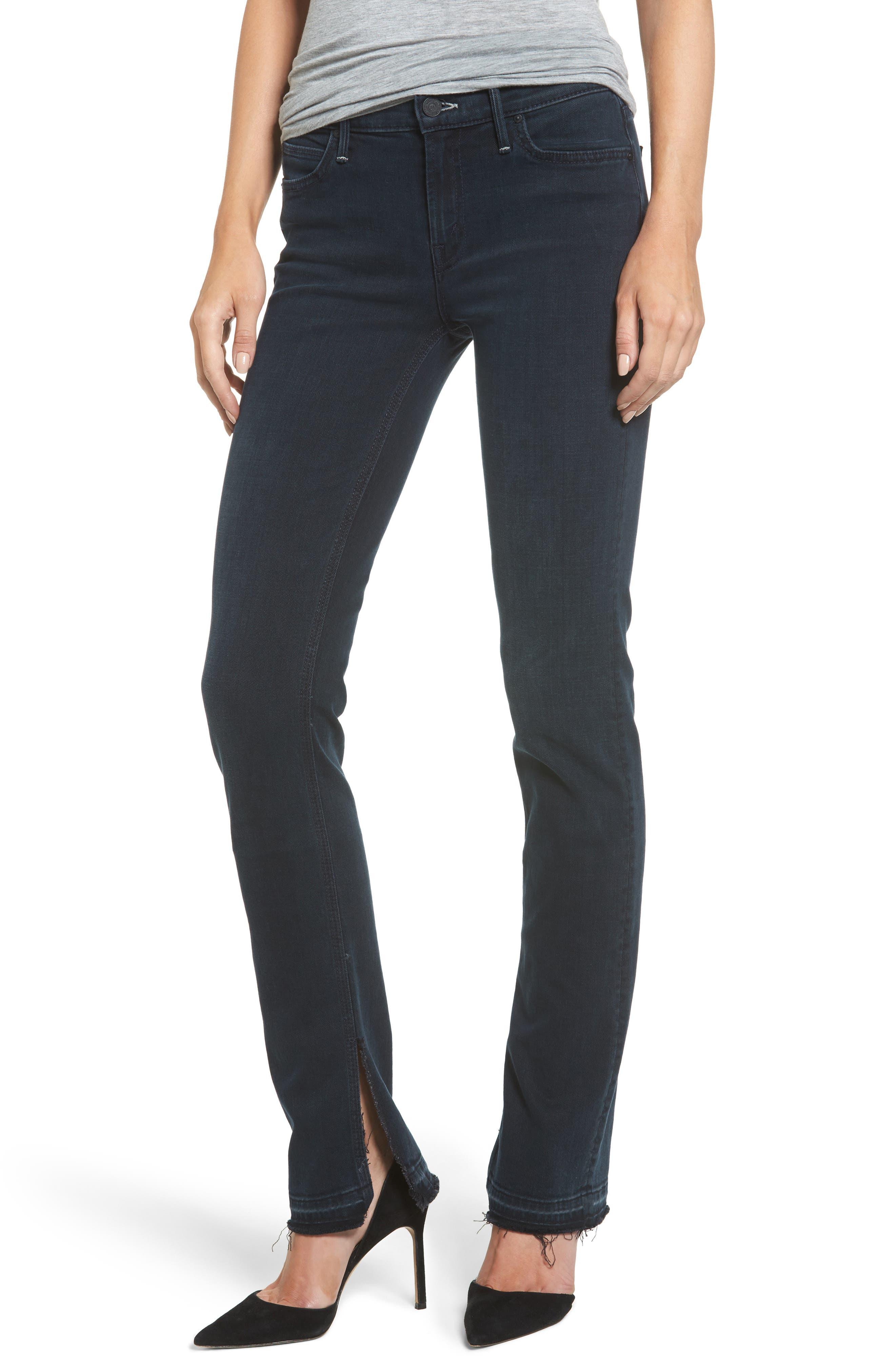 The Rascal Undone Hem Straight Leg Jeans,                         Main,                         color, Storm Clouds