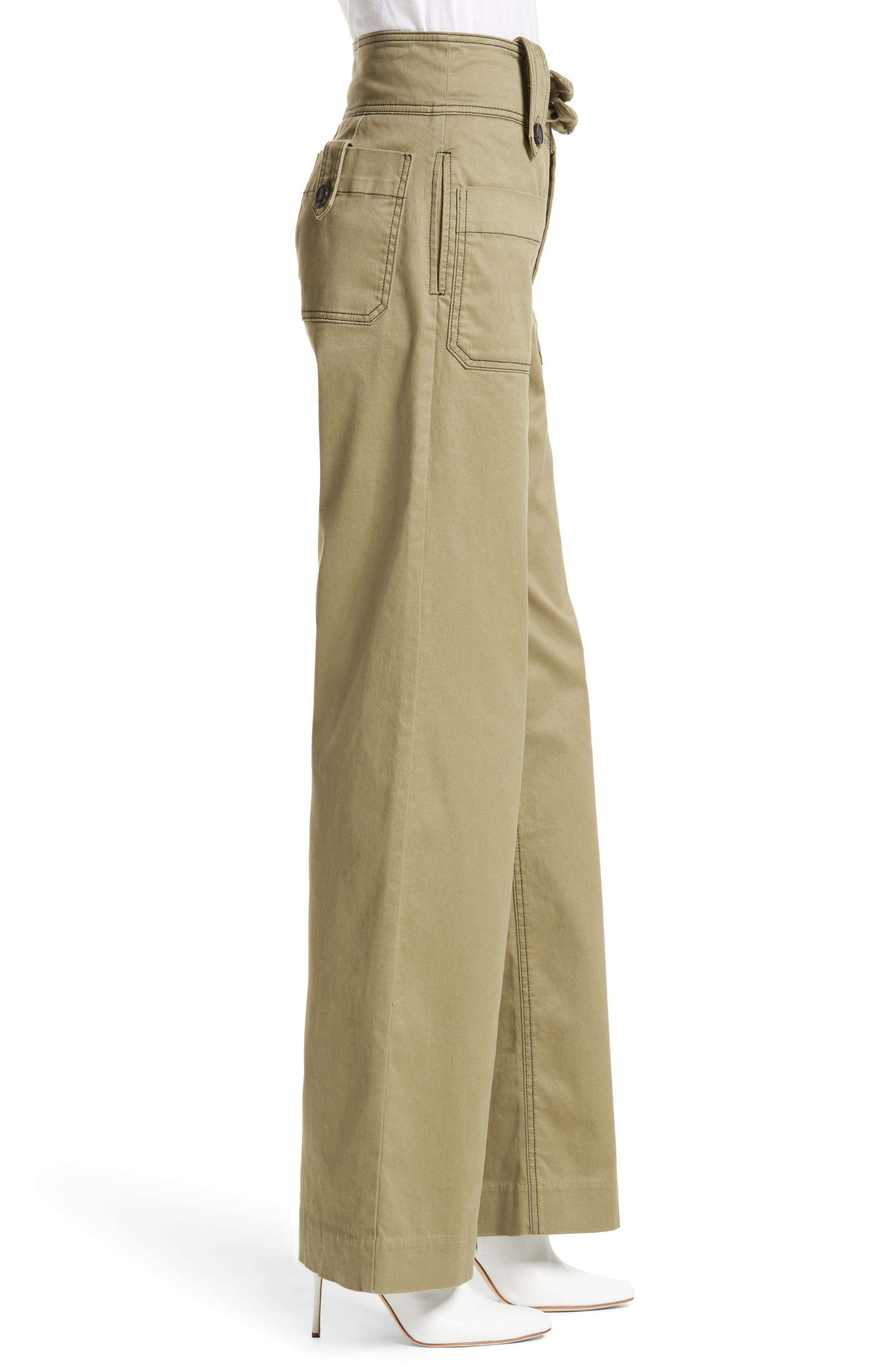 Alternate Image 4  - Rebecca Taylor High Waist Twill Pants