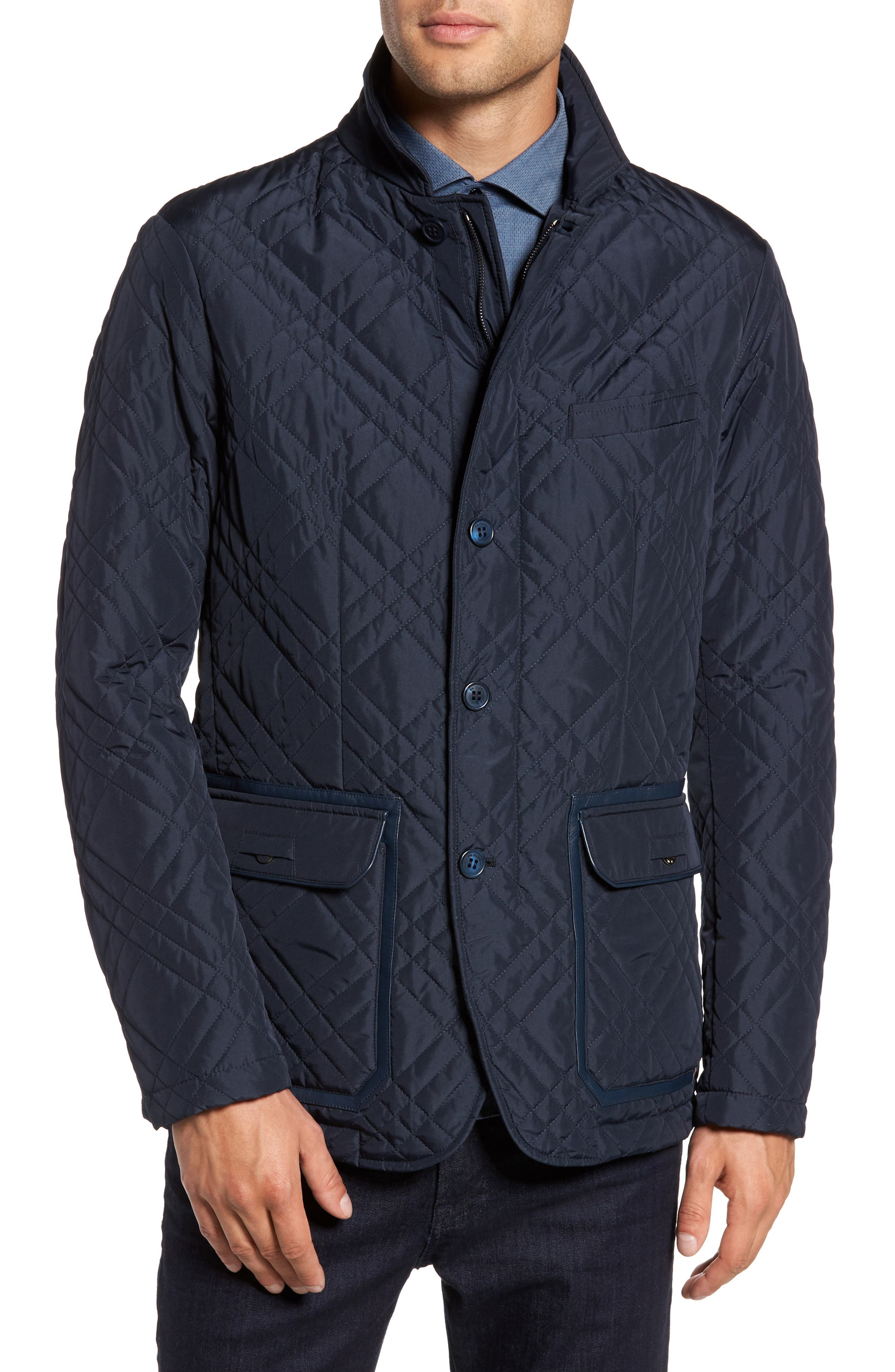 Quilted Field Jacket,                             Alternate thumbnail 2, color,                             Blue Navy