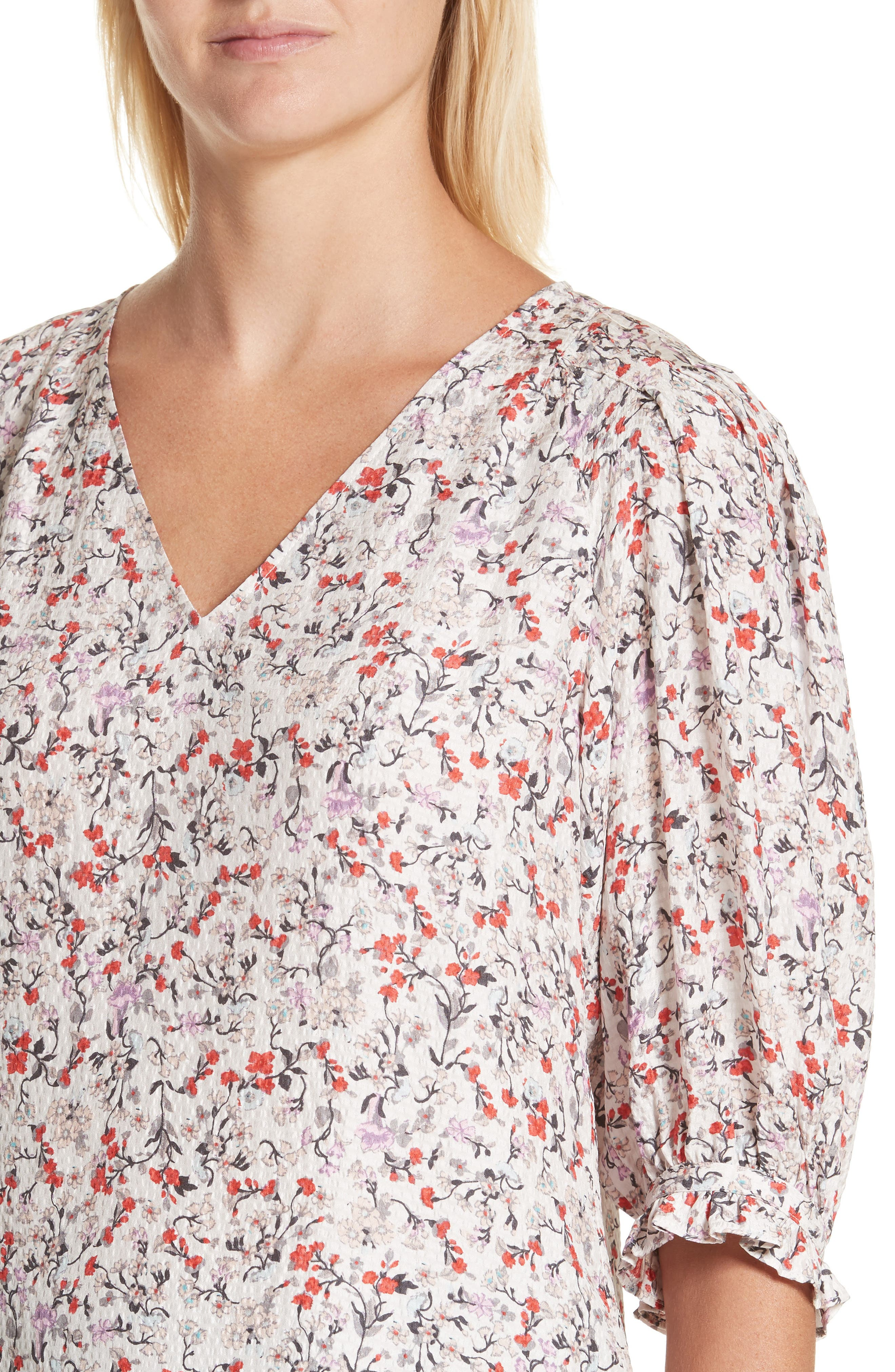 Alternate Image 4  - Rebecca Taylor Lyra Floral Silk Top