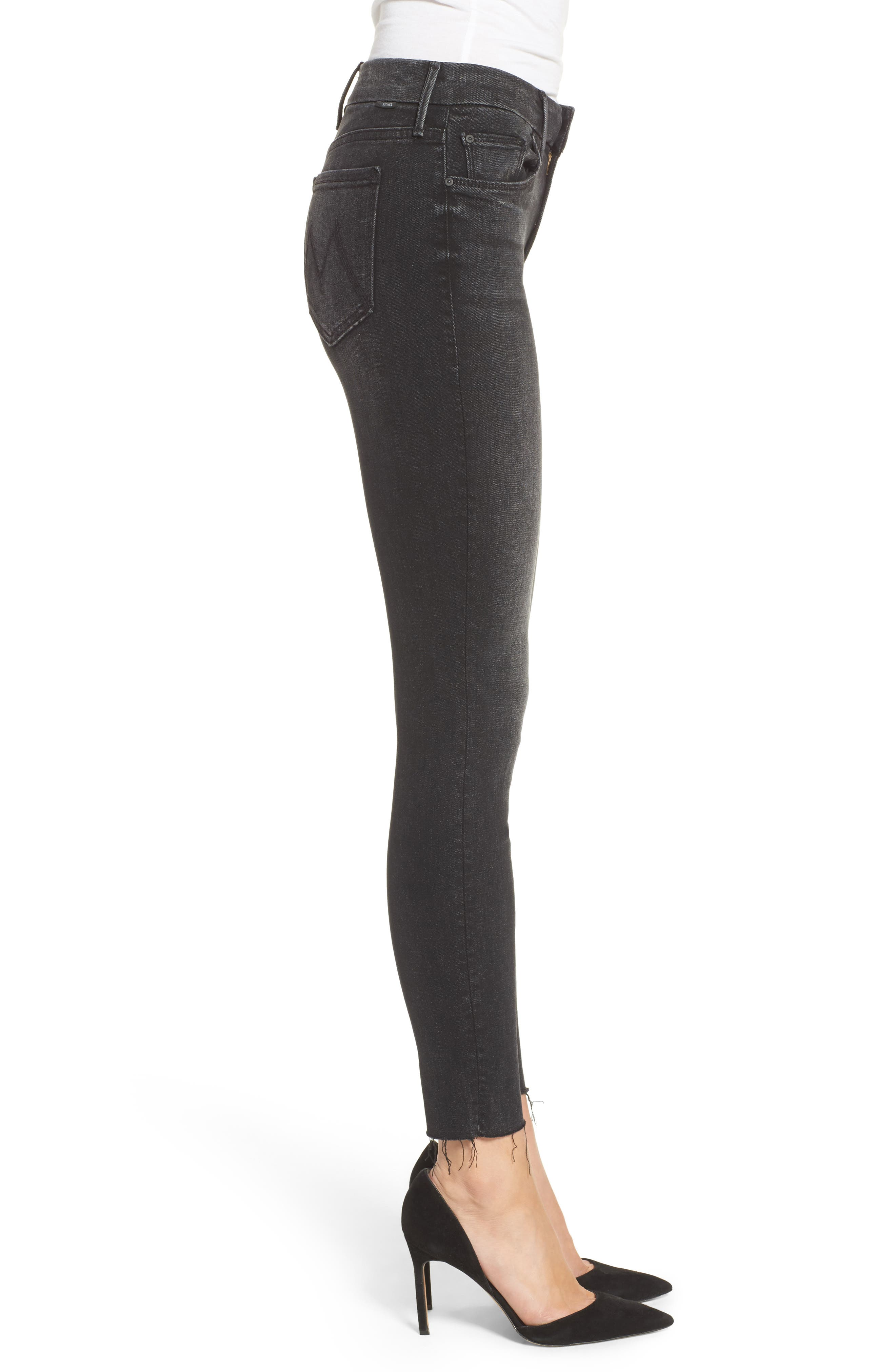 Alternate Image 3  - MOTHER The Looker Frayed Ankle Jeans (Night Hawk)