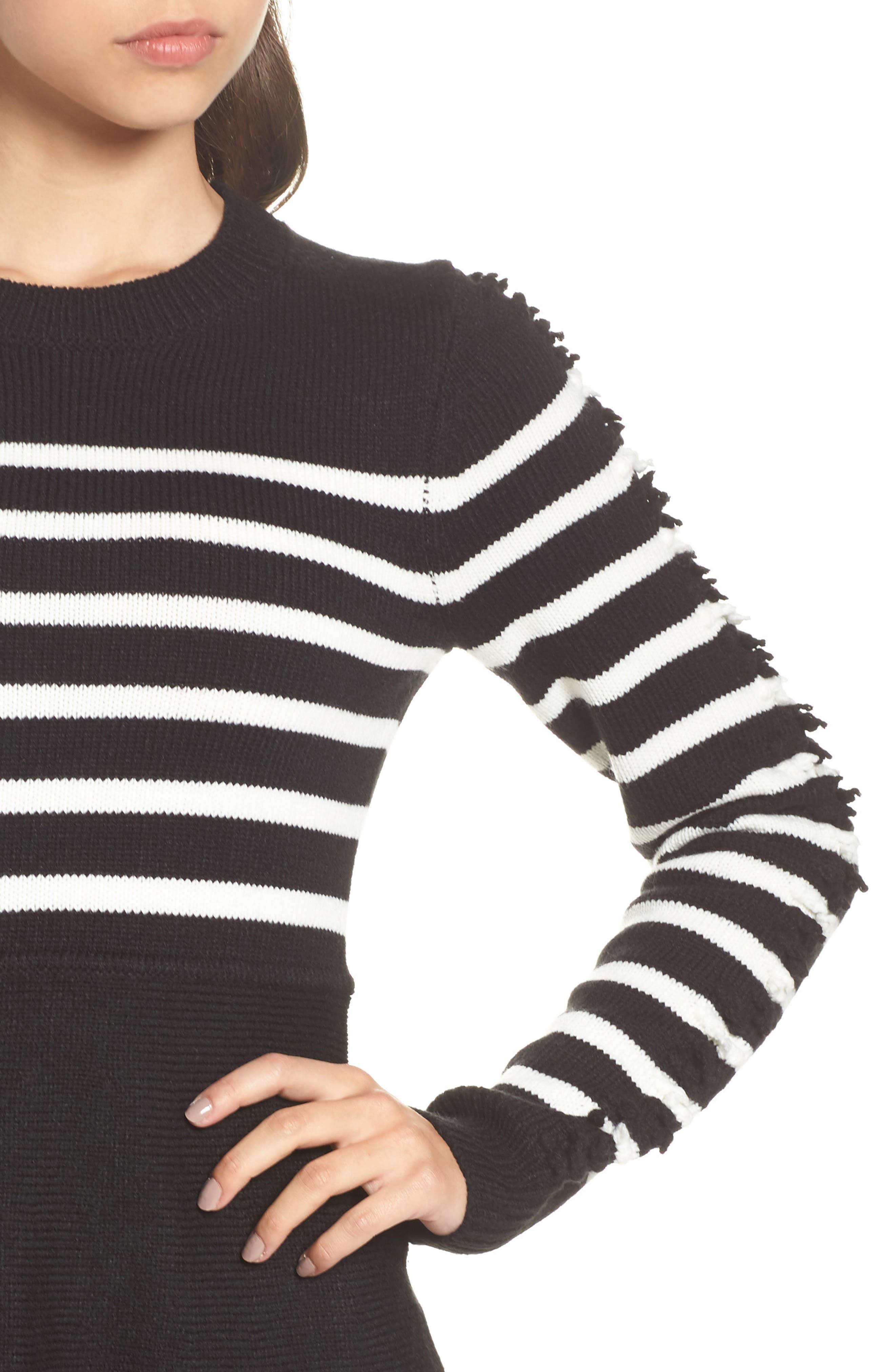 Alternate Image 4  - Eliza J Fit & Flare Sweater Dress (Regular & Petite)