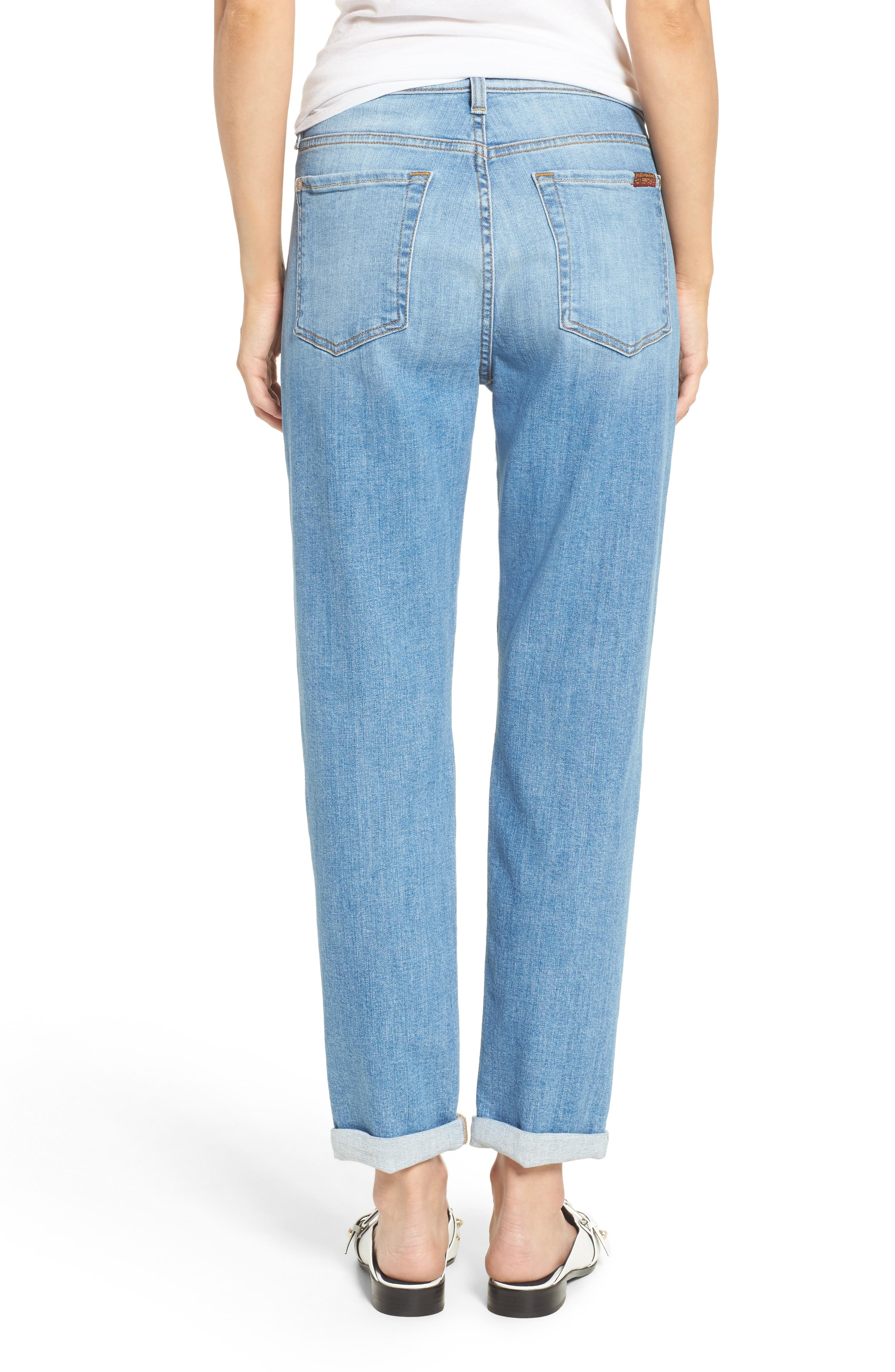 Josefina High Waist Crop Boyfriend Jeans,                             Alternate thumbnail 2, color,                             East Village