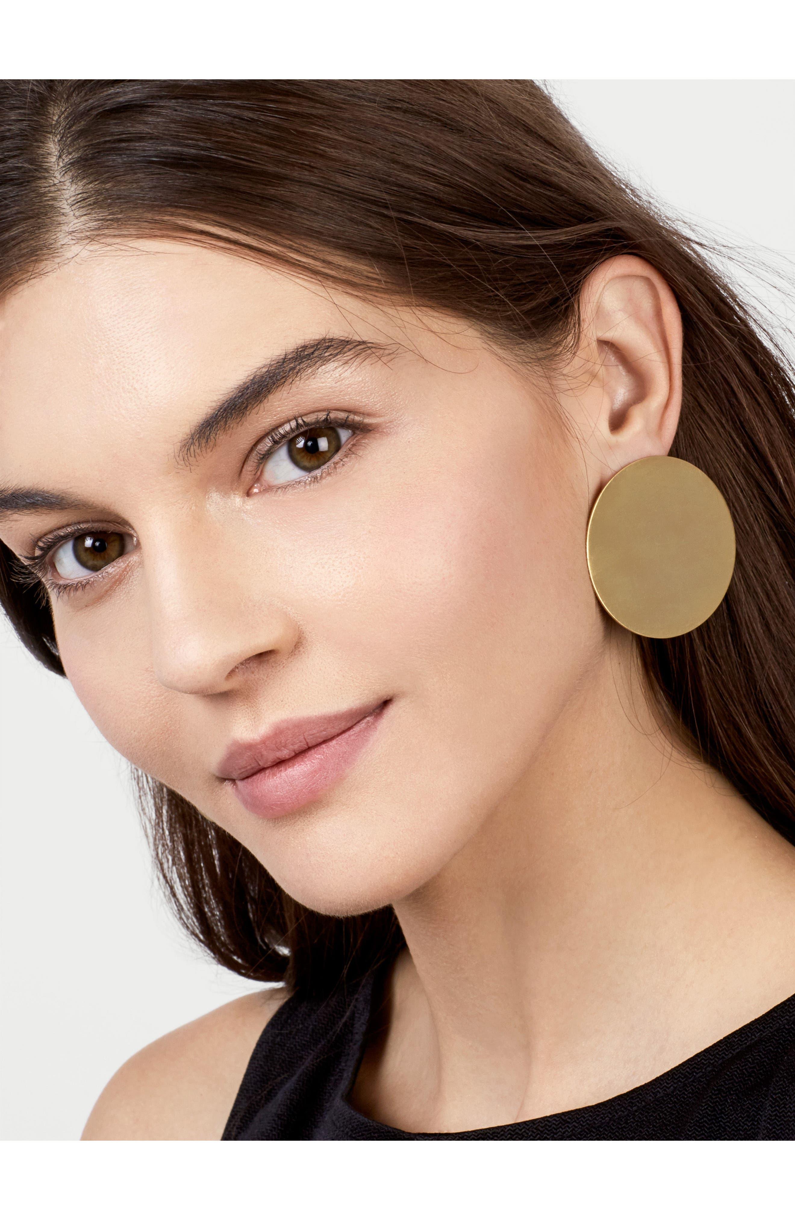 Alternate Image 2  - BaubleBar Cora Disk Stud Earrings