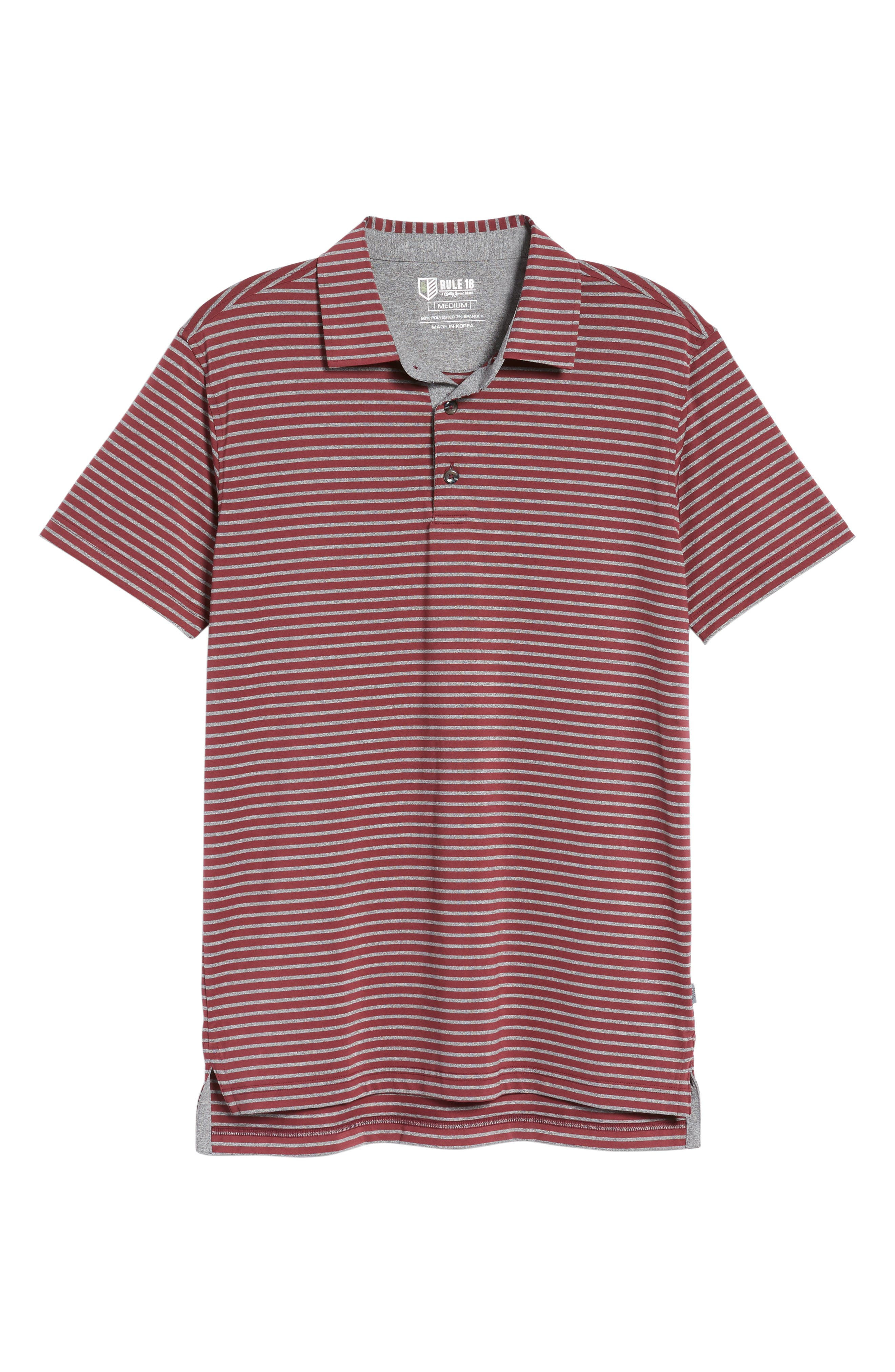 Control Stripe Jersey Polo,                             Alternate thumbnail 6, color,                             Oxblood