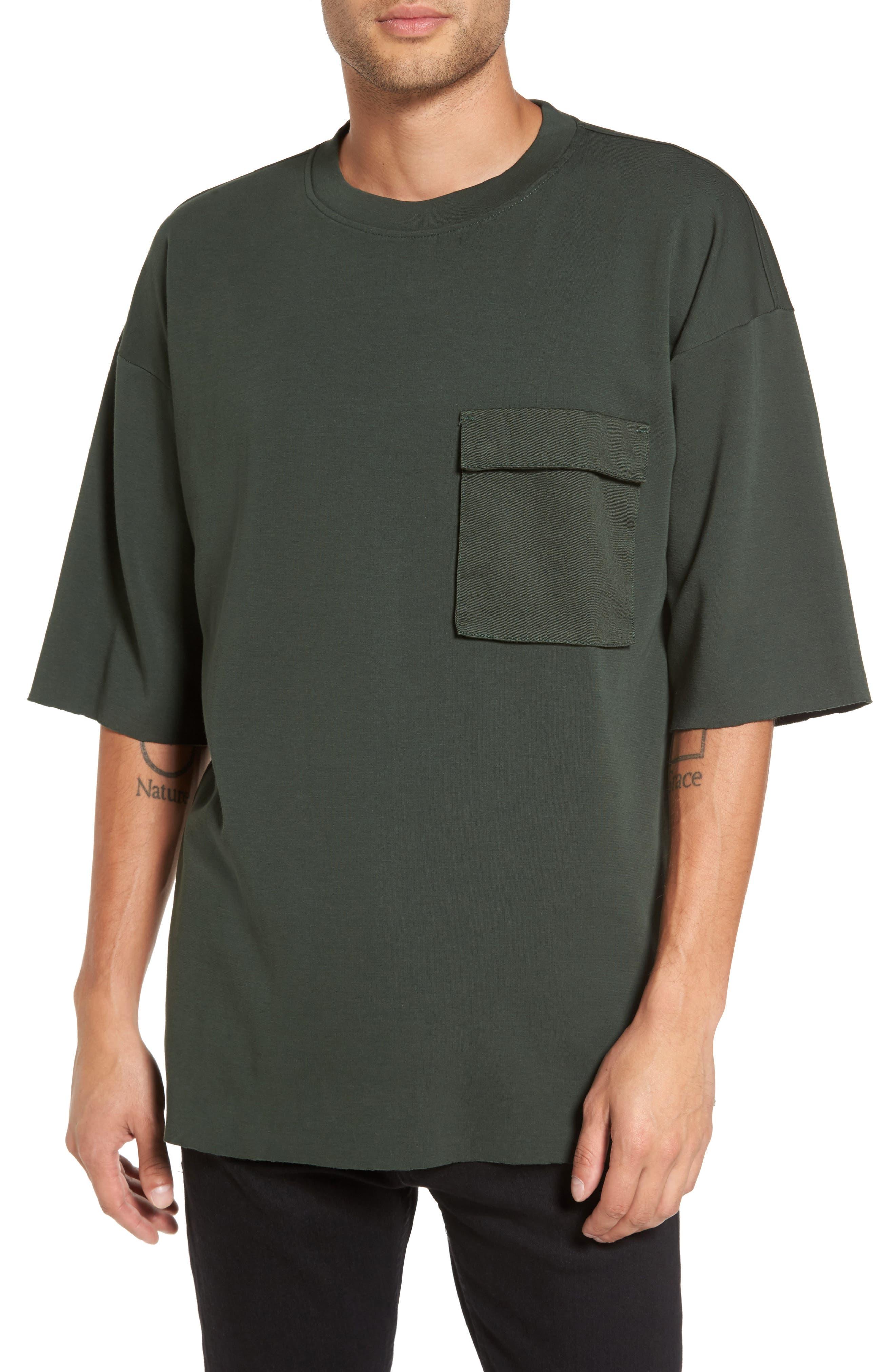 Mauno Pocket T-Shirt,                         Main,                         color, Riot Green