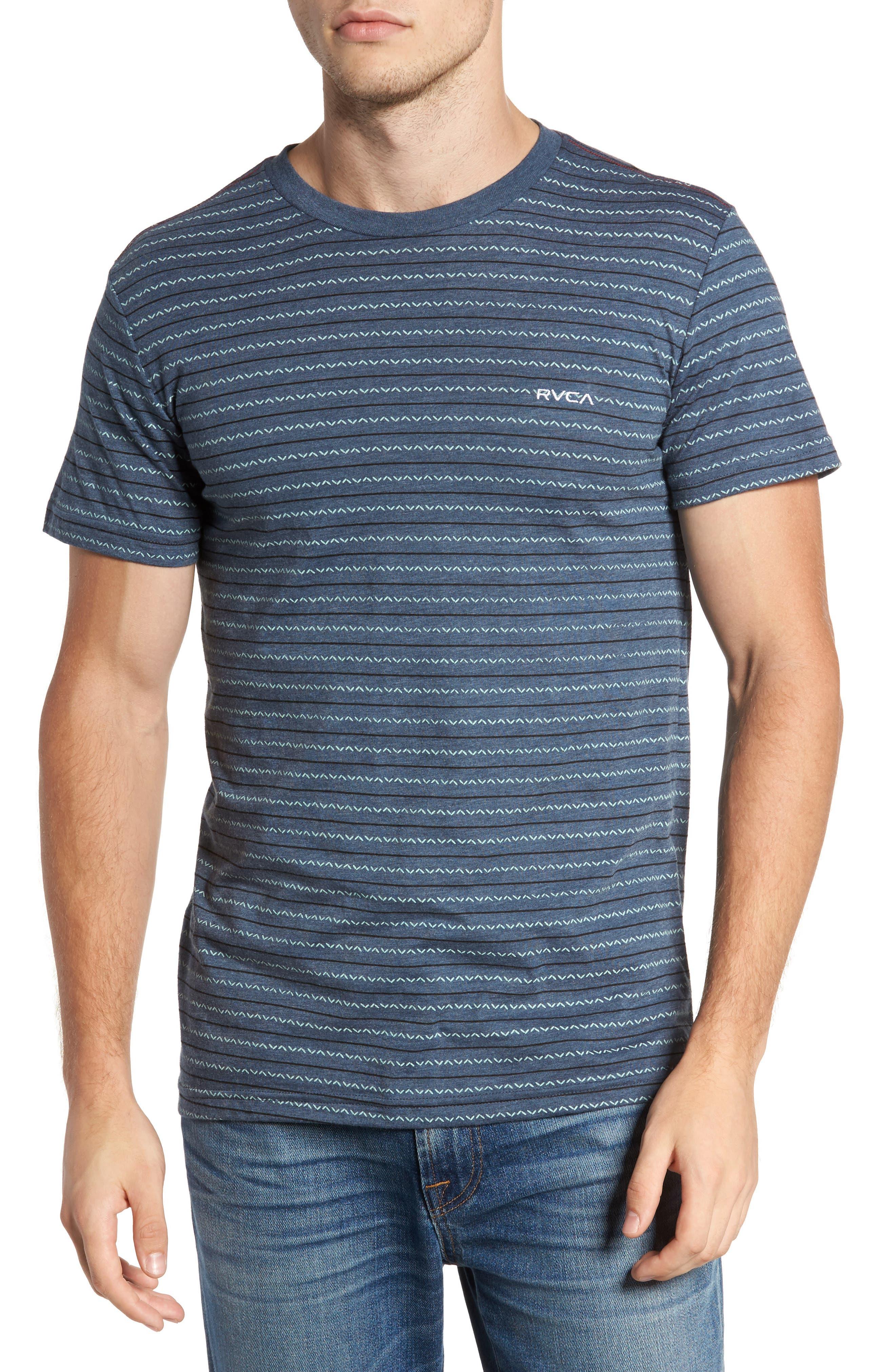 Chevron Stripe T-Shirt,                         Main,                         color, Dark Denim