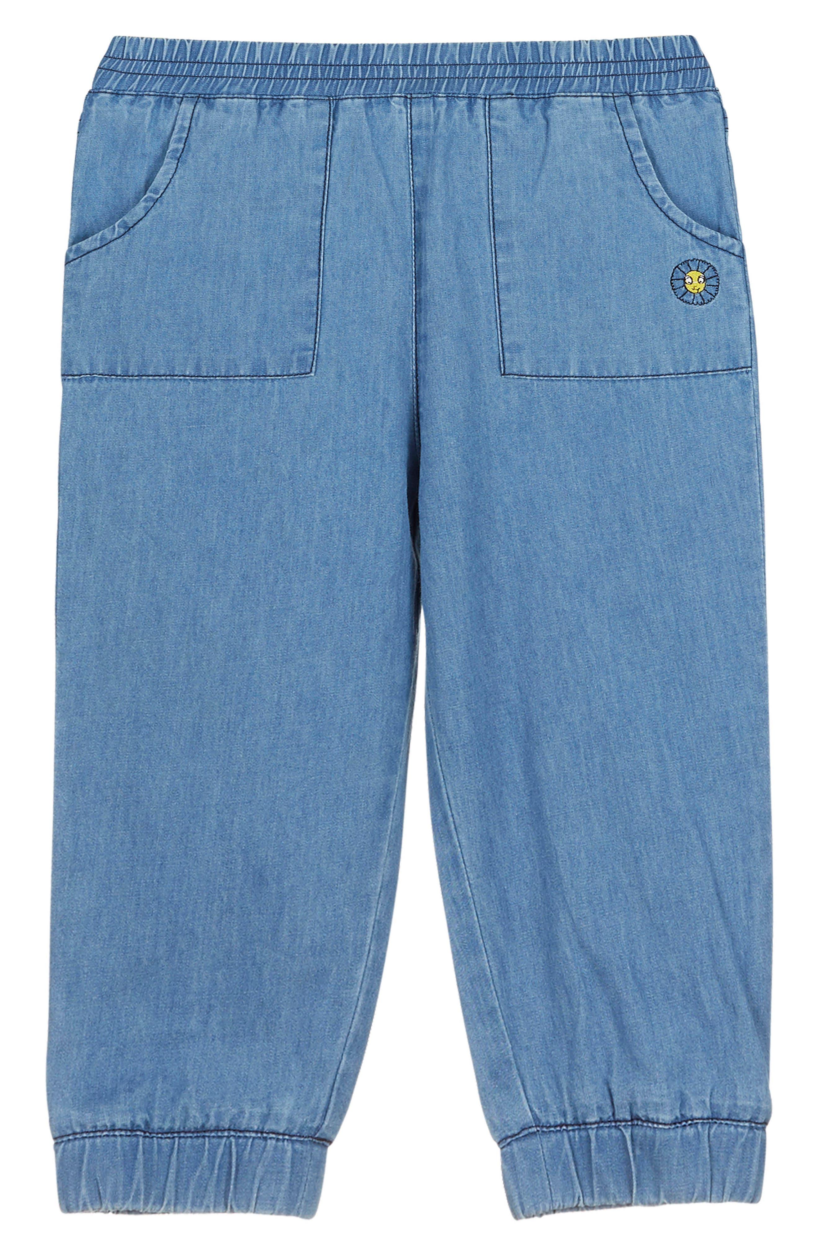 Denim Jogger Pants,                         Main,                         color, Chambray