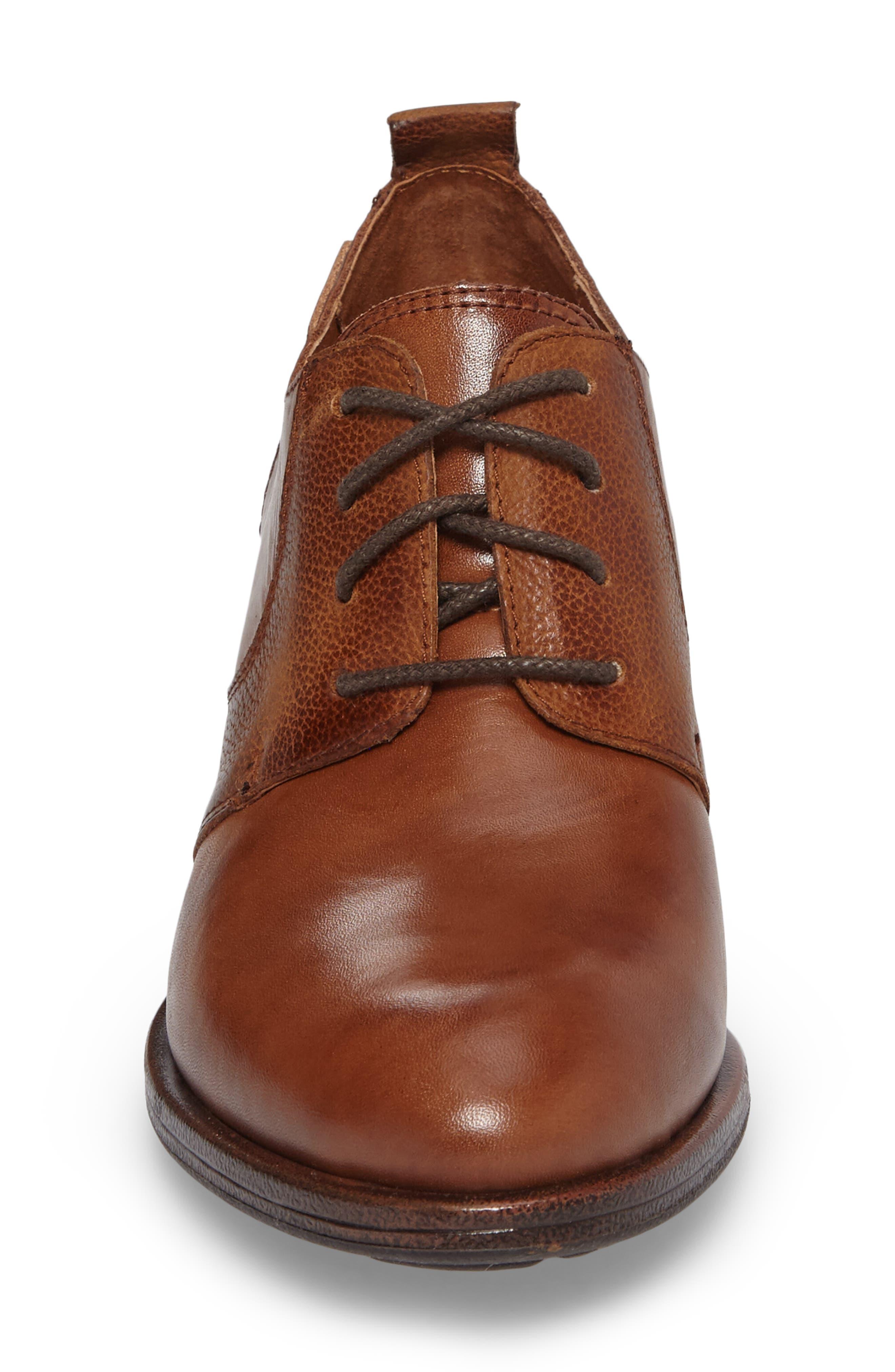 Baqueira Oxford Pump,                             Alternate thumbnail 4, color,                             Cuero Brandy Leather