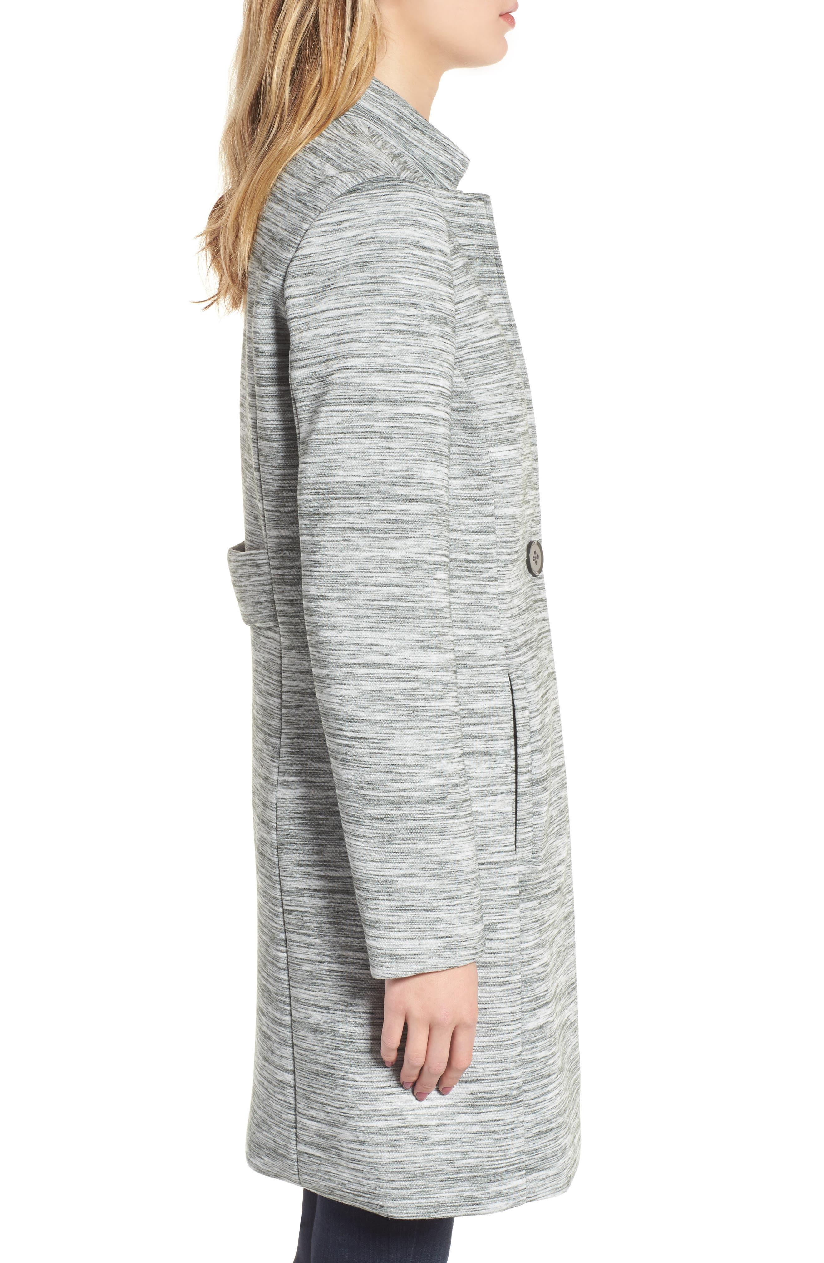 Knit Coat,                             Alternate thumbnail 3, color,                             Light Grey
