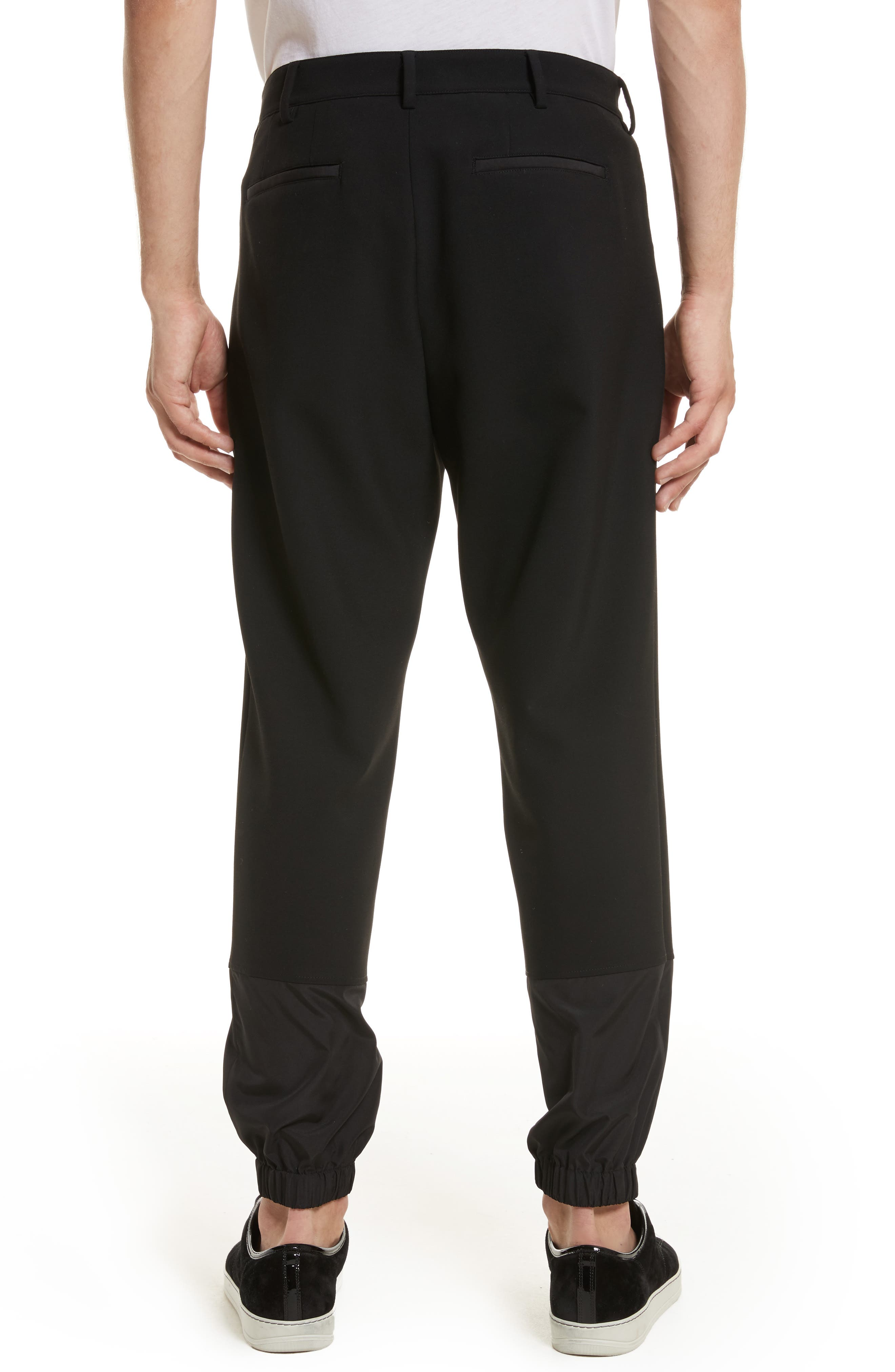 Contrast Panel Jogger Pants,                             Alternate thumbnail 2, color,                             Black