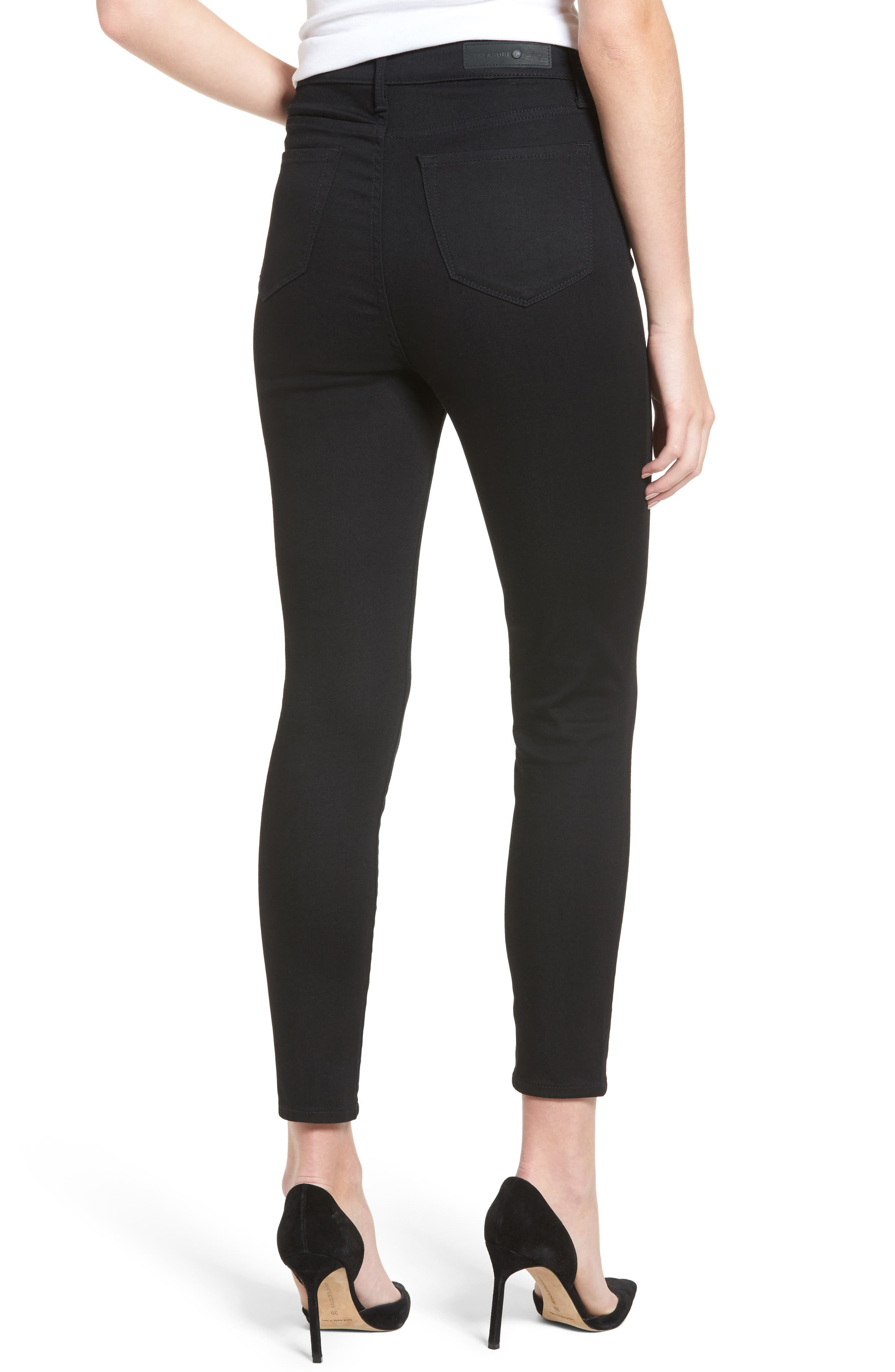 Charity High Waist Crop Skinny Jeans,                             Alternate thumbnail 3, color,                             Midnight Rinse