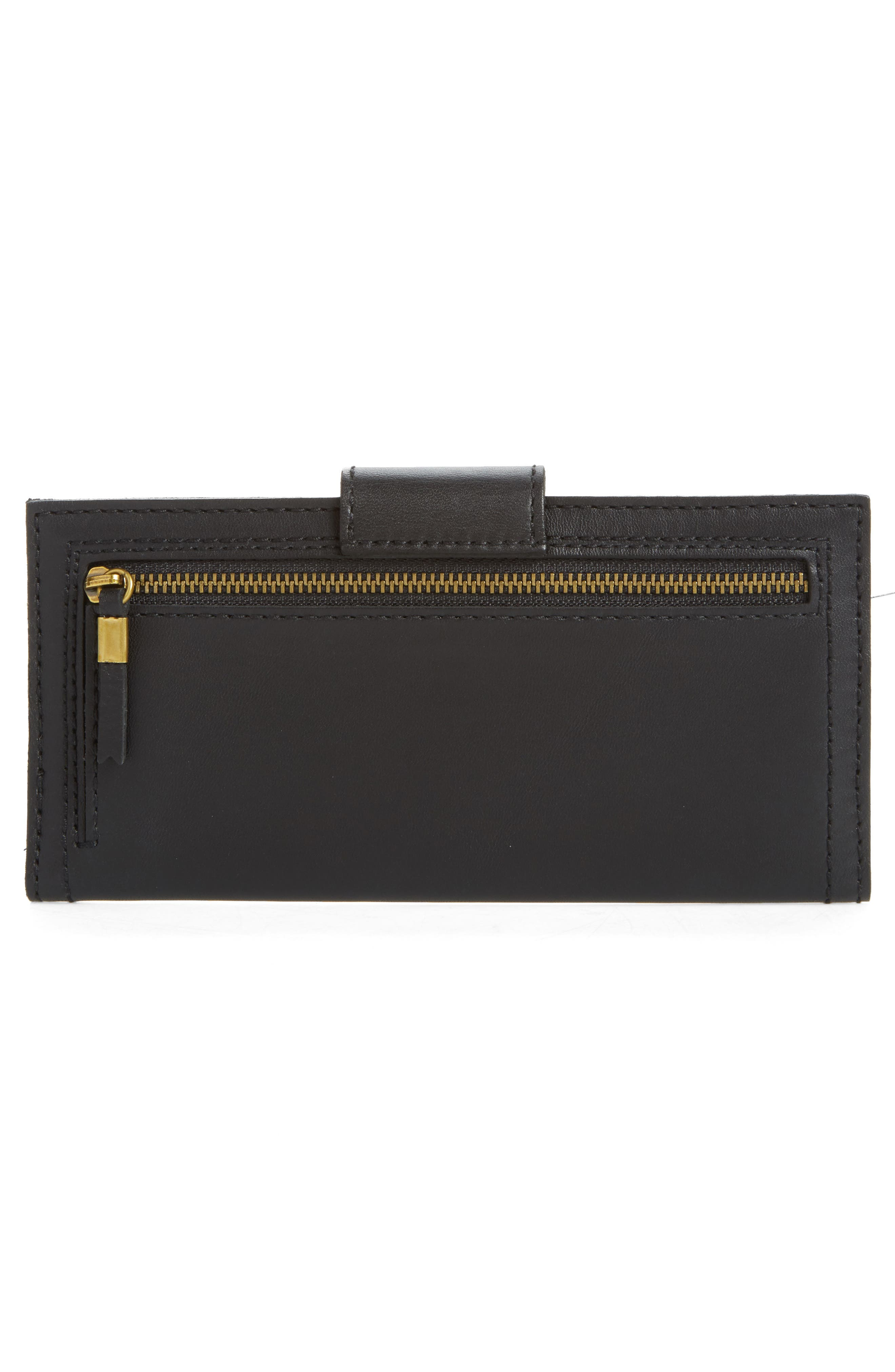 The Post Leather Wallet,                             Alternate thumbnail 4, color,                             True Black