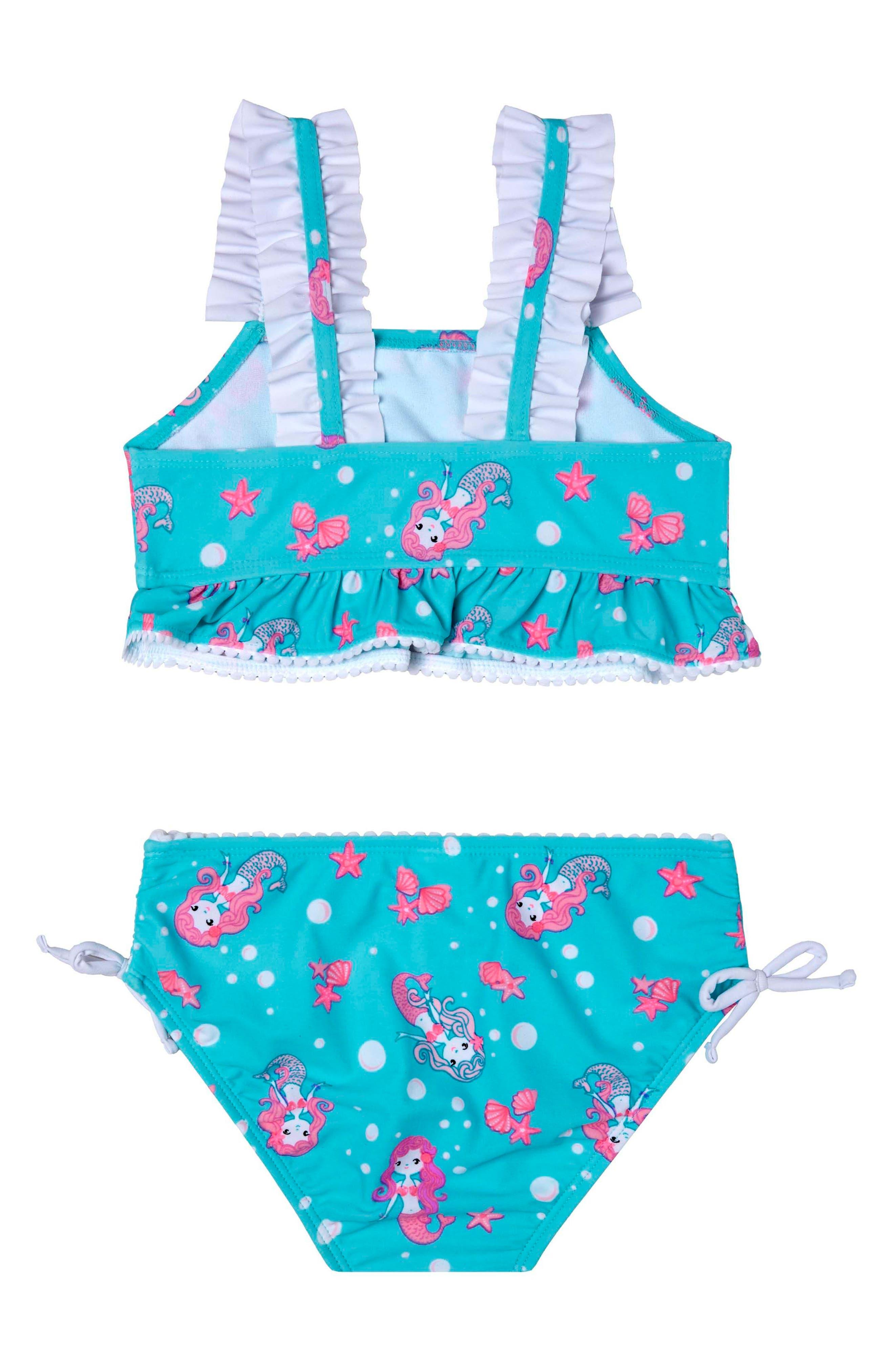 Alternate Image 2  - Hula Star Mermaid Crush Two-Piece Swimsuit (Toddler Girls & Little Girls)