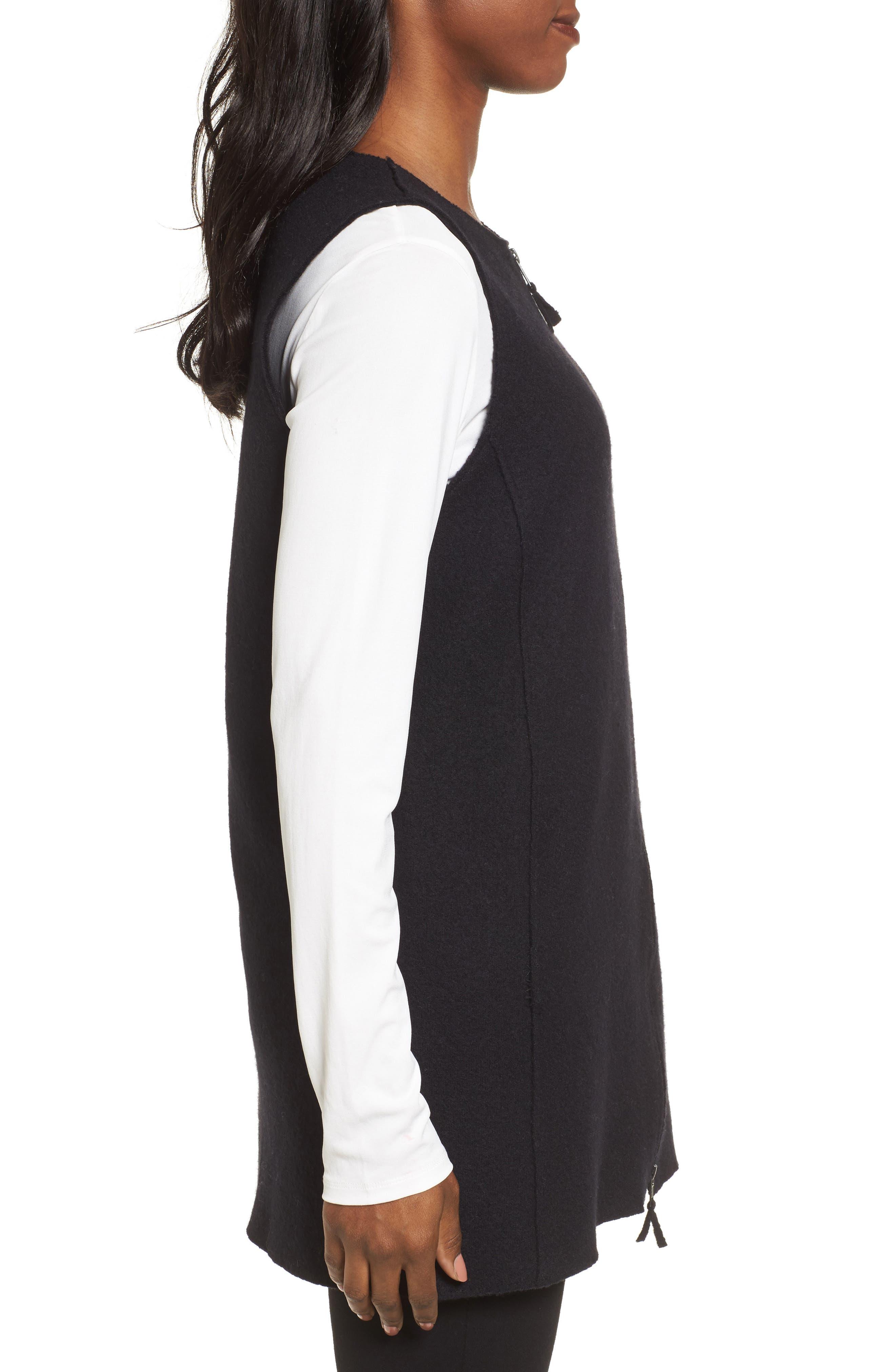 Alternate Image 3  - Eileen Fisher Long Boiled Wool Vest (Regular & Petite)