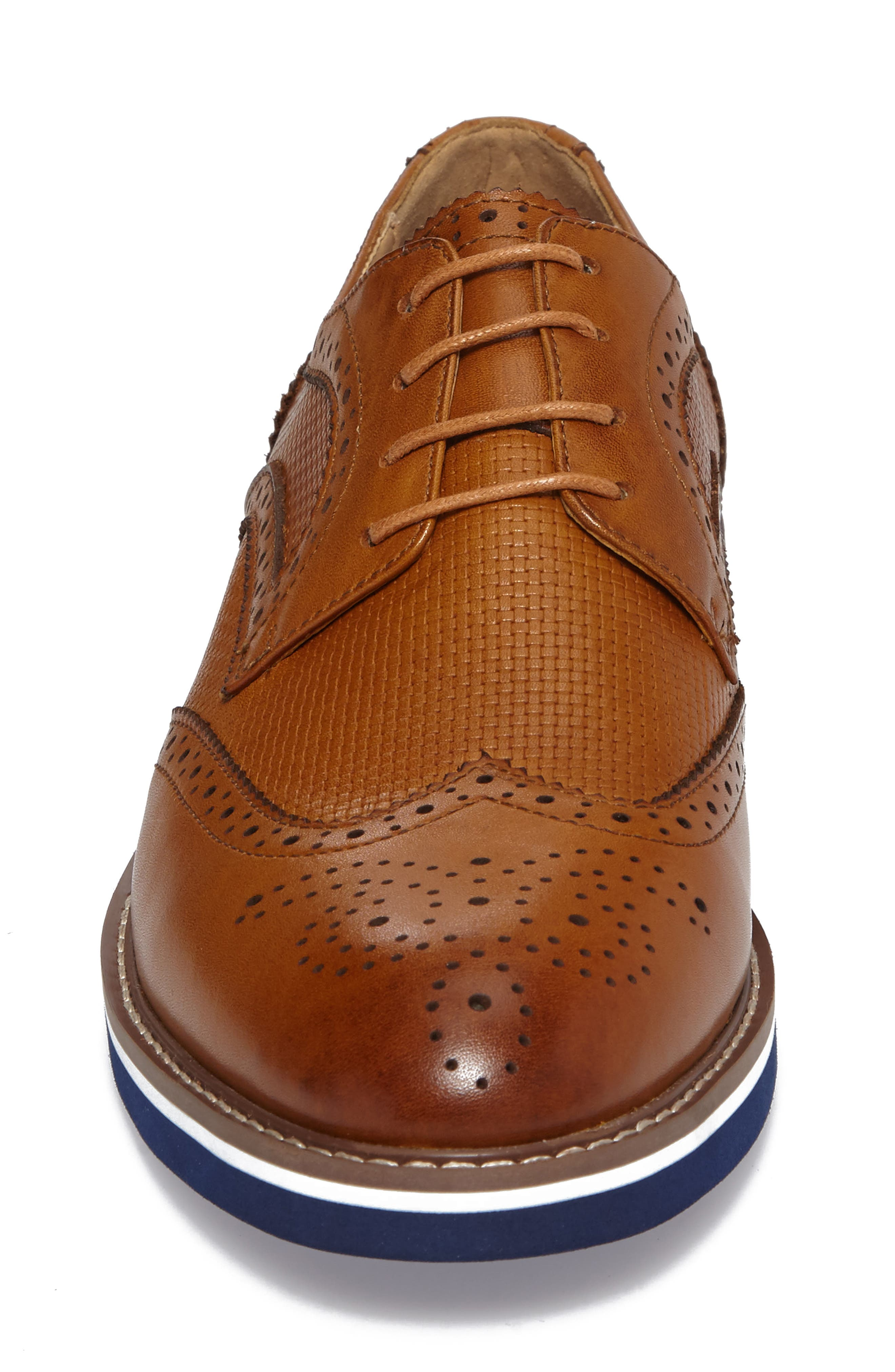 Northfields Spectator Shoe,                             Alternate thumbnail 4, color,                             Cognac Leather