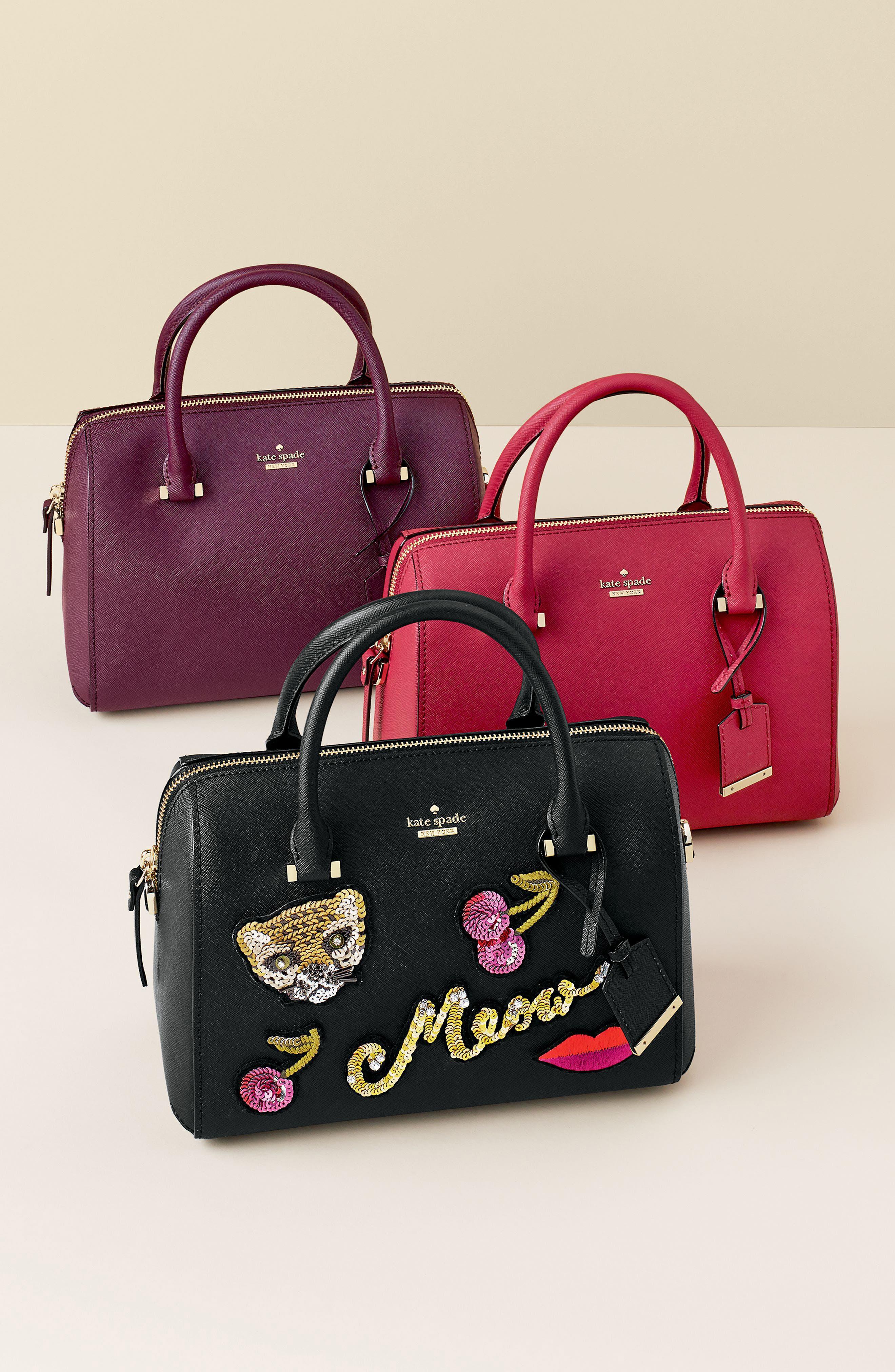 cameron street large lane leather satchel,                             Alternate thumbnail 2, color,