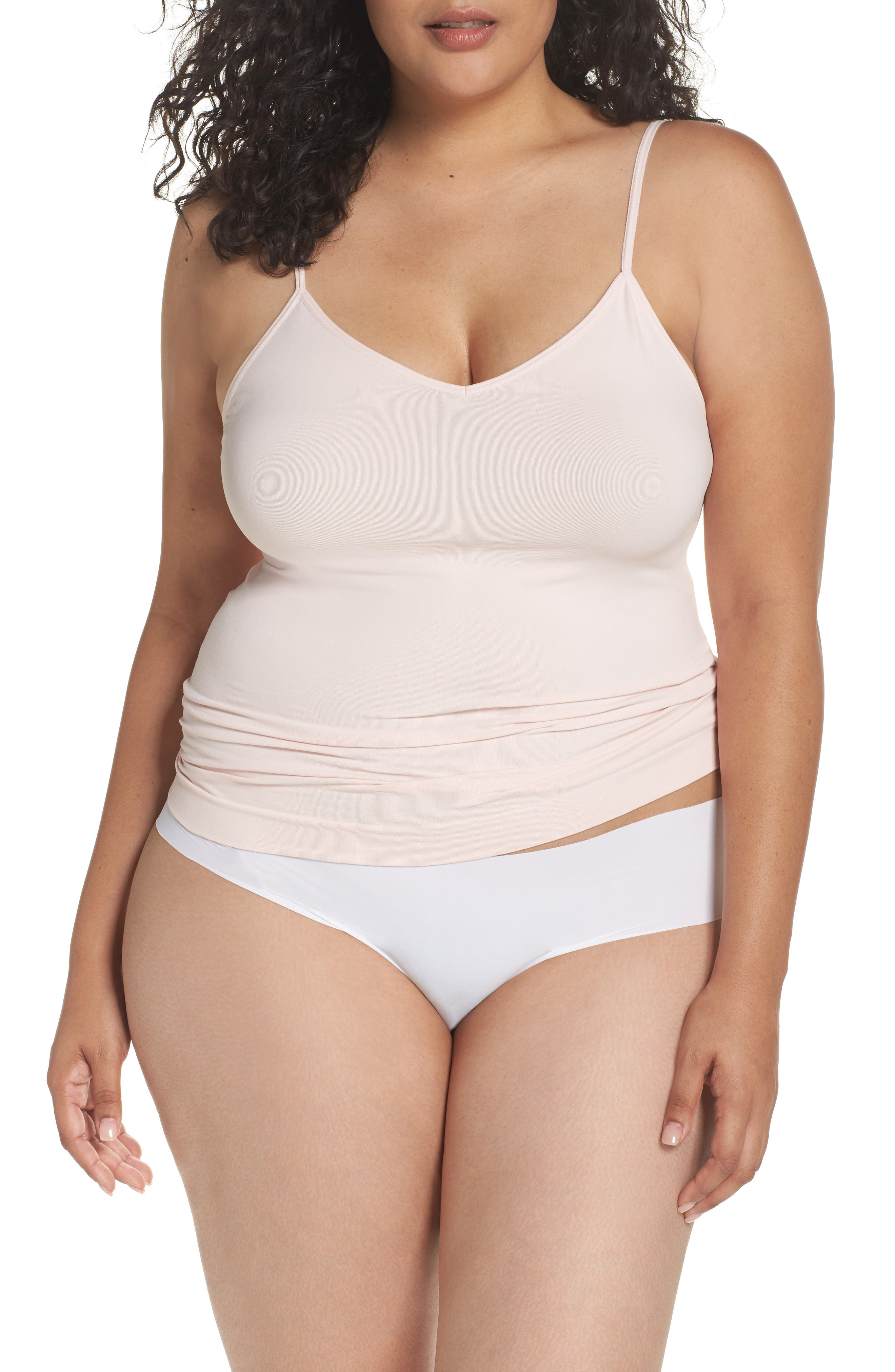 Halogen® Seamless 2-Way Camisole (Plus Size) (2 for $49)