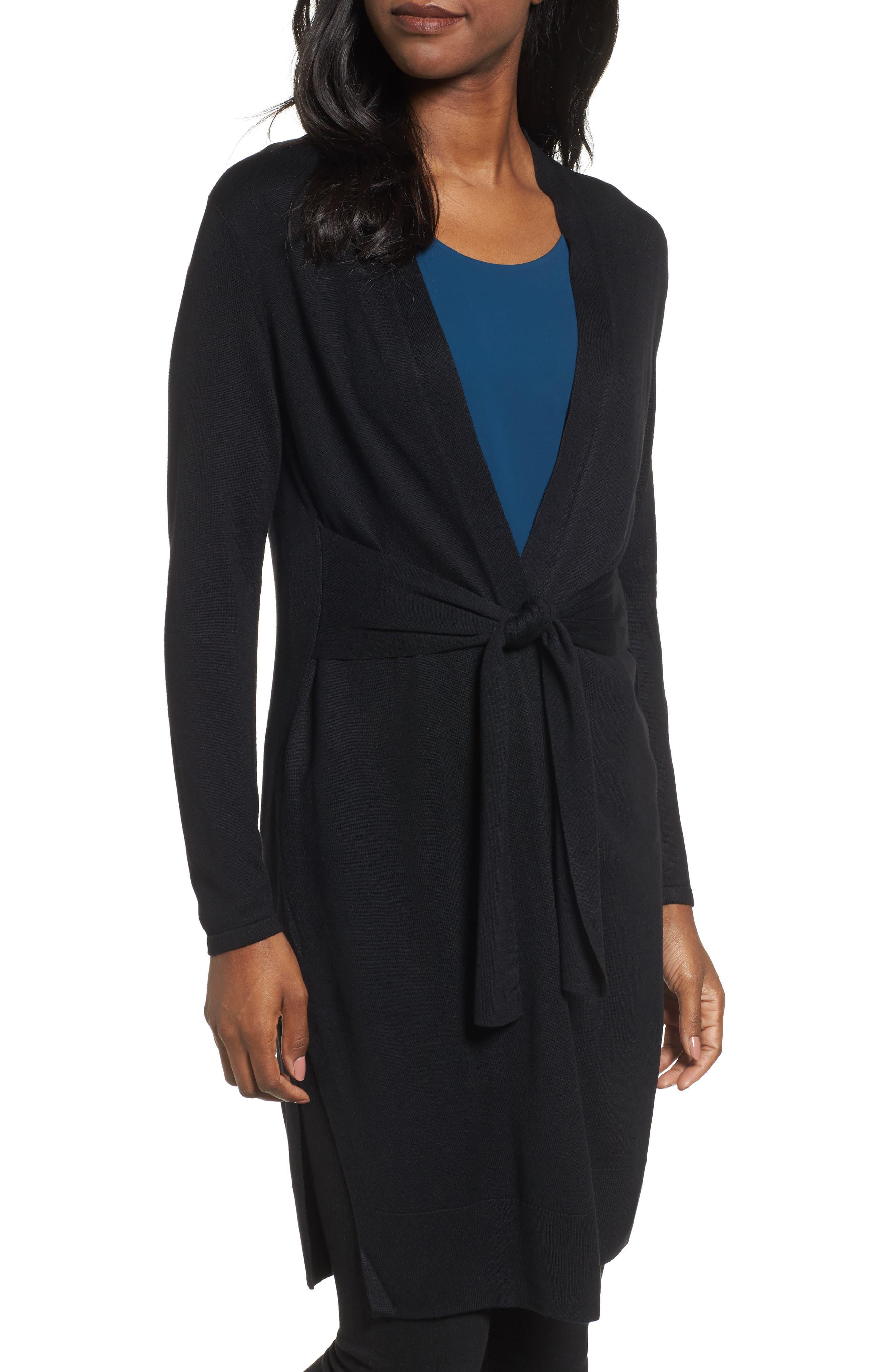 NIC+ZOE Silk Blend Trench Cardigan (Regular & Petite)