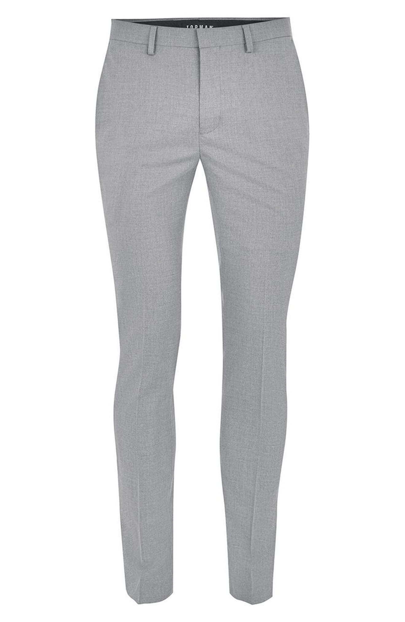 Ultra Skinny Fit Smart Trousers,                             Alternate thumbnail 4, color,                             Grey