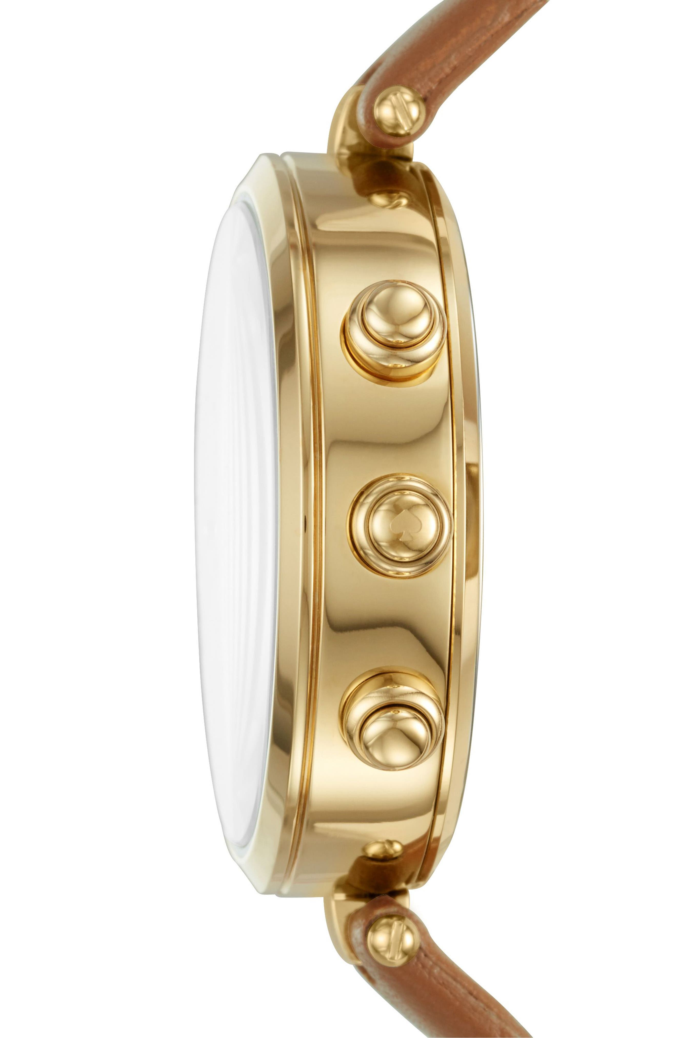 Alternate Image 3  - kate spade new york holland hybrid leather strap watch, 37mm