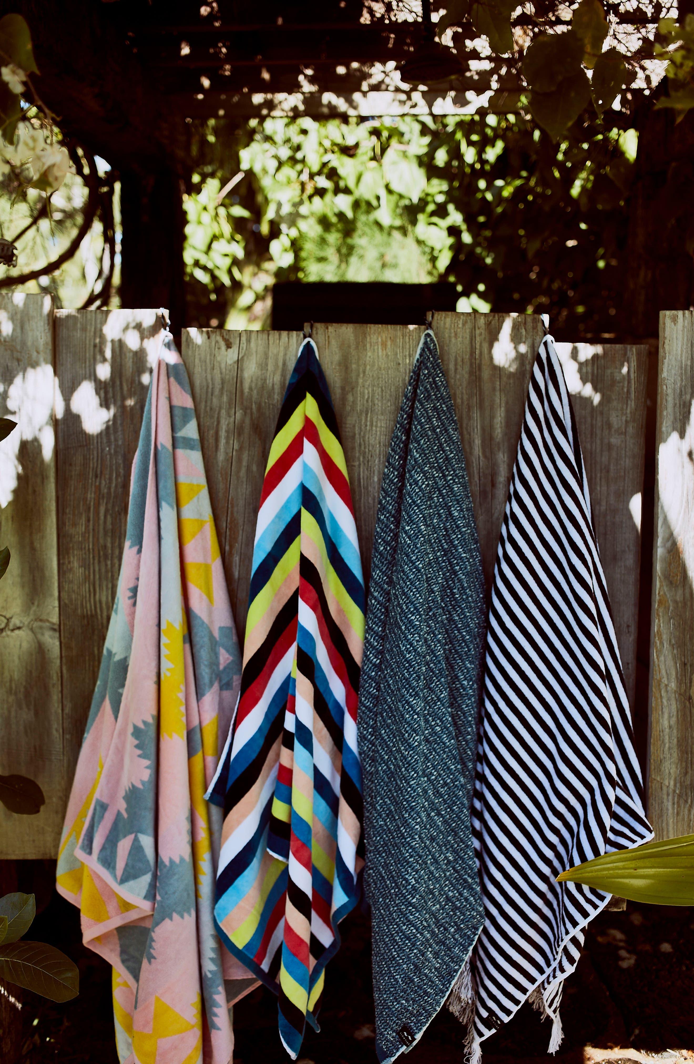 Versa Beach Towel,                             Alternate thumbnail 5, color,                             Blue Multi