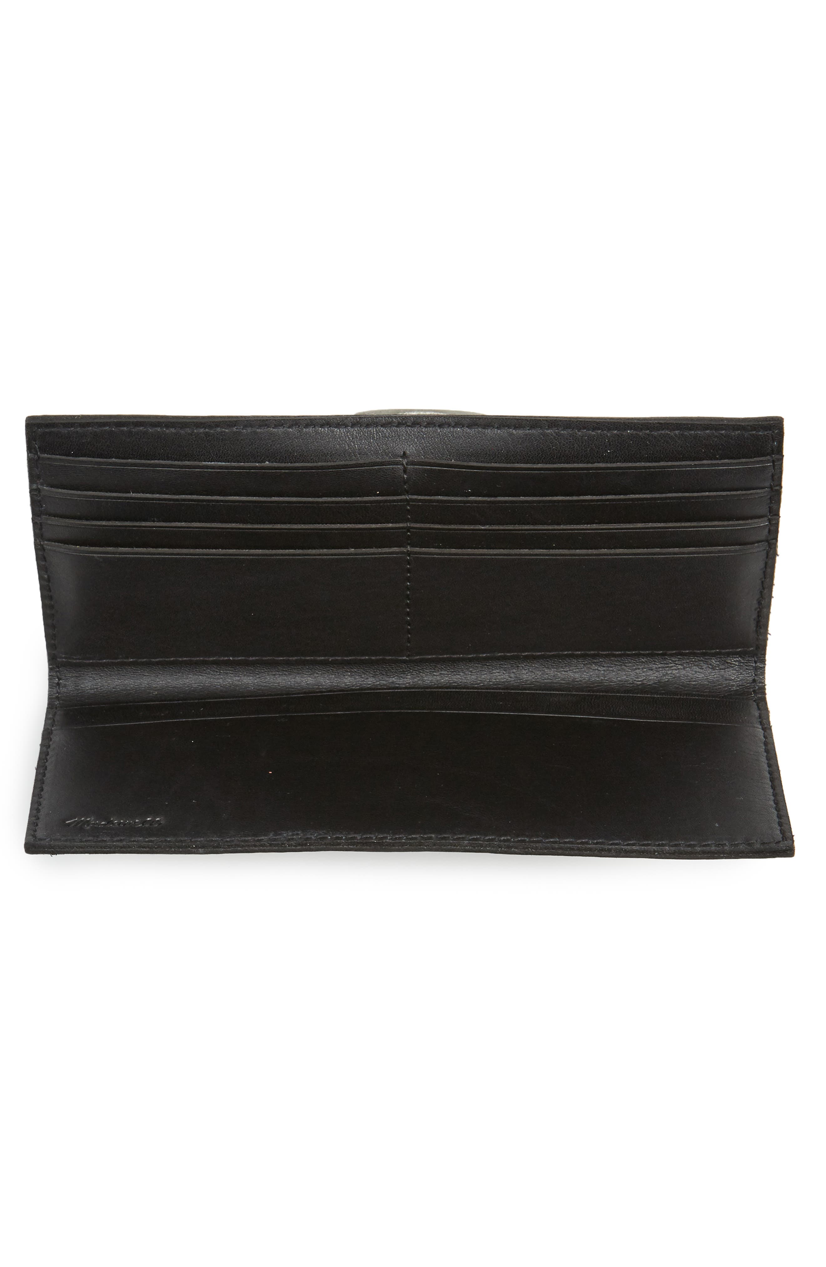 The Post Leather Wallet,                             Alternate thumbnail 2, color,                             True Black