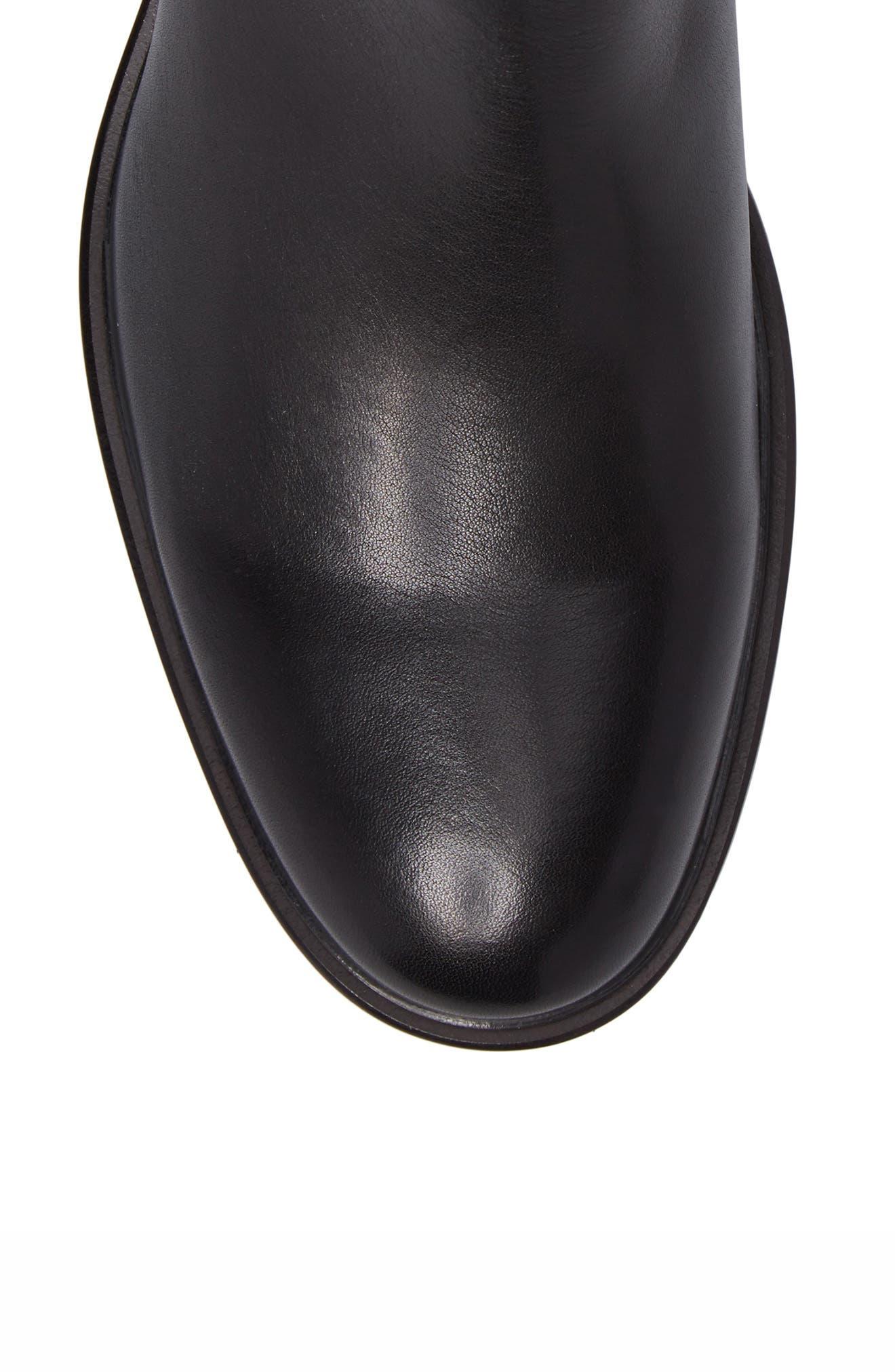 Myles Chelsea Boot,                             Alternate thumbnail 5, color,                             Black Leather