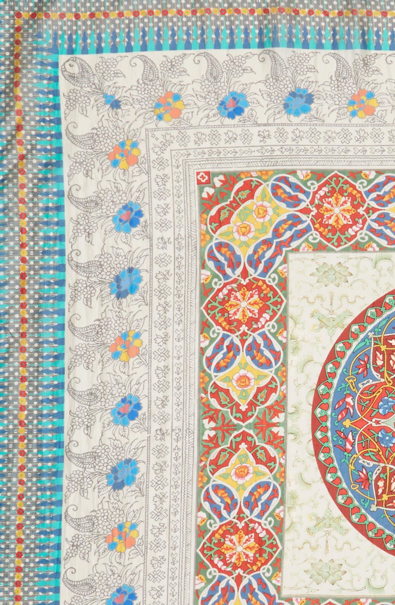 Mocity Silk Scarf,                             Alternate thumbnail 3, color,                             Mixed Print