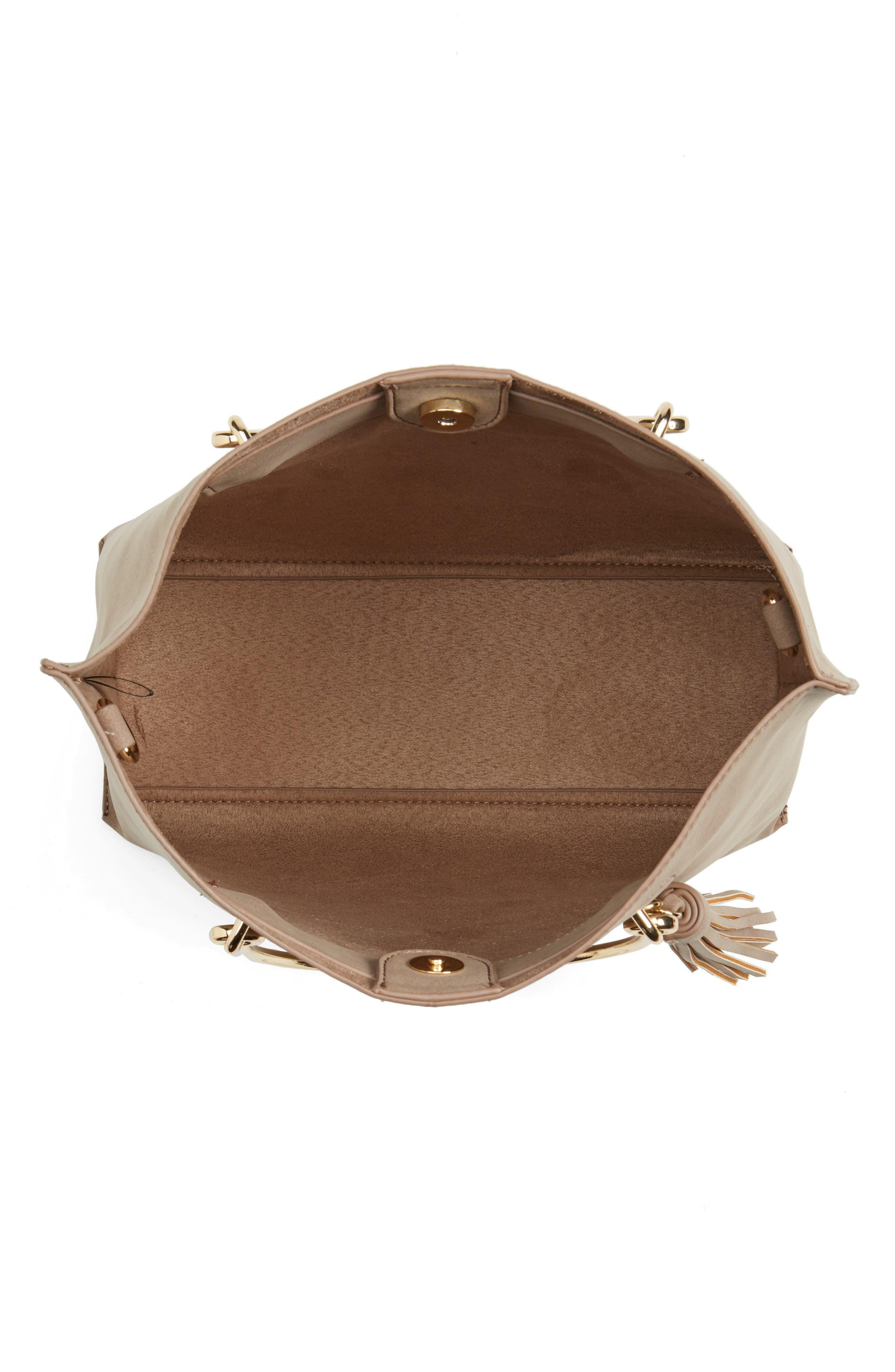 Alternate Image 4  - BP. Metal Handle Faux Leather Satchel