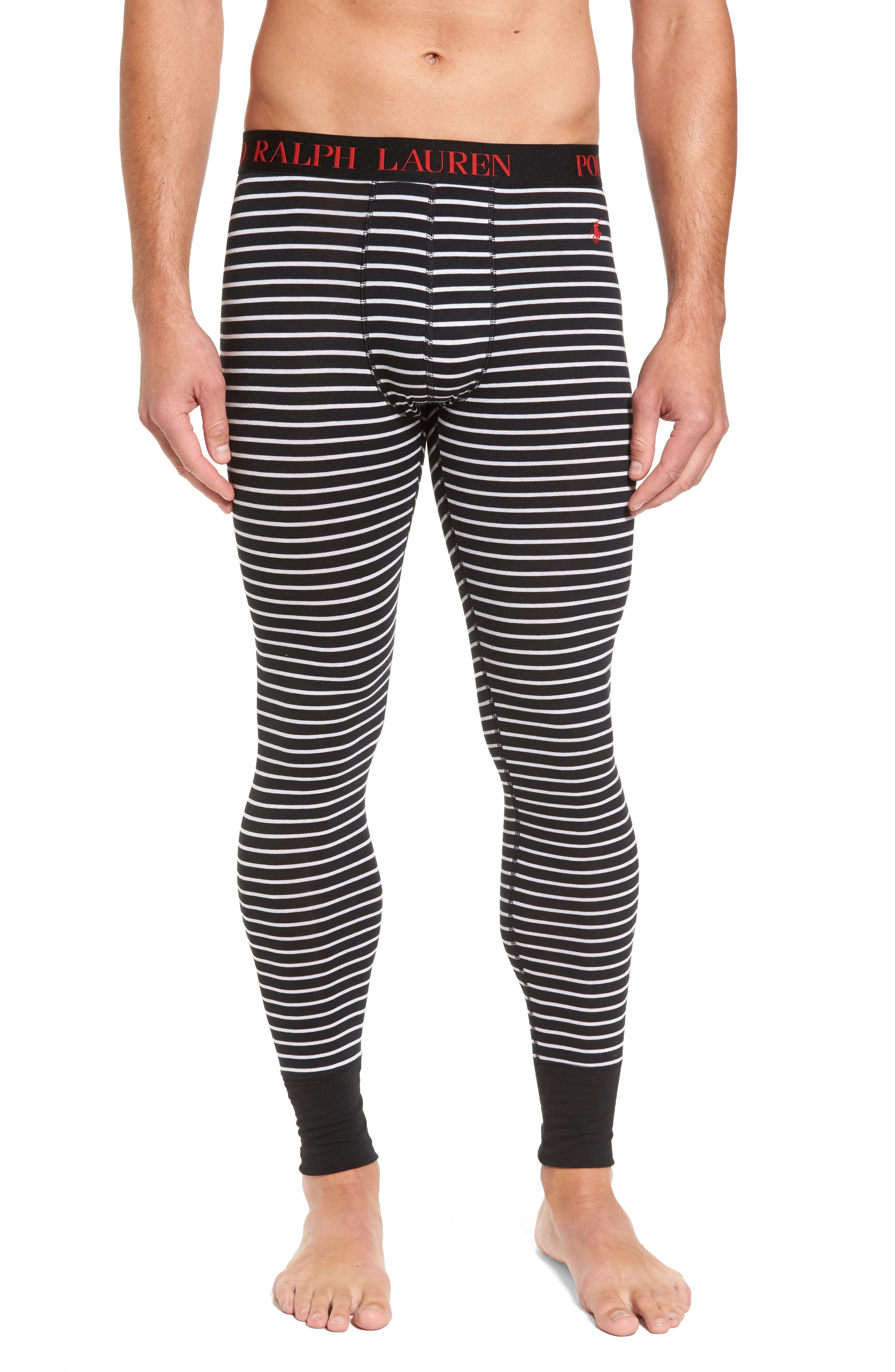 Long Underwear,                             Main thumbnail 1, color,                             Polo Black Stripe