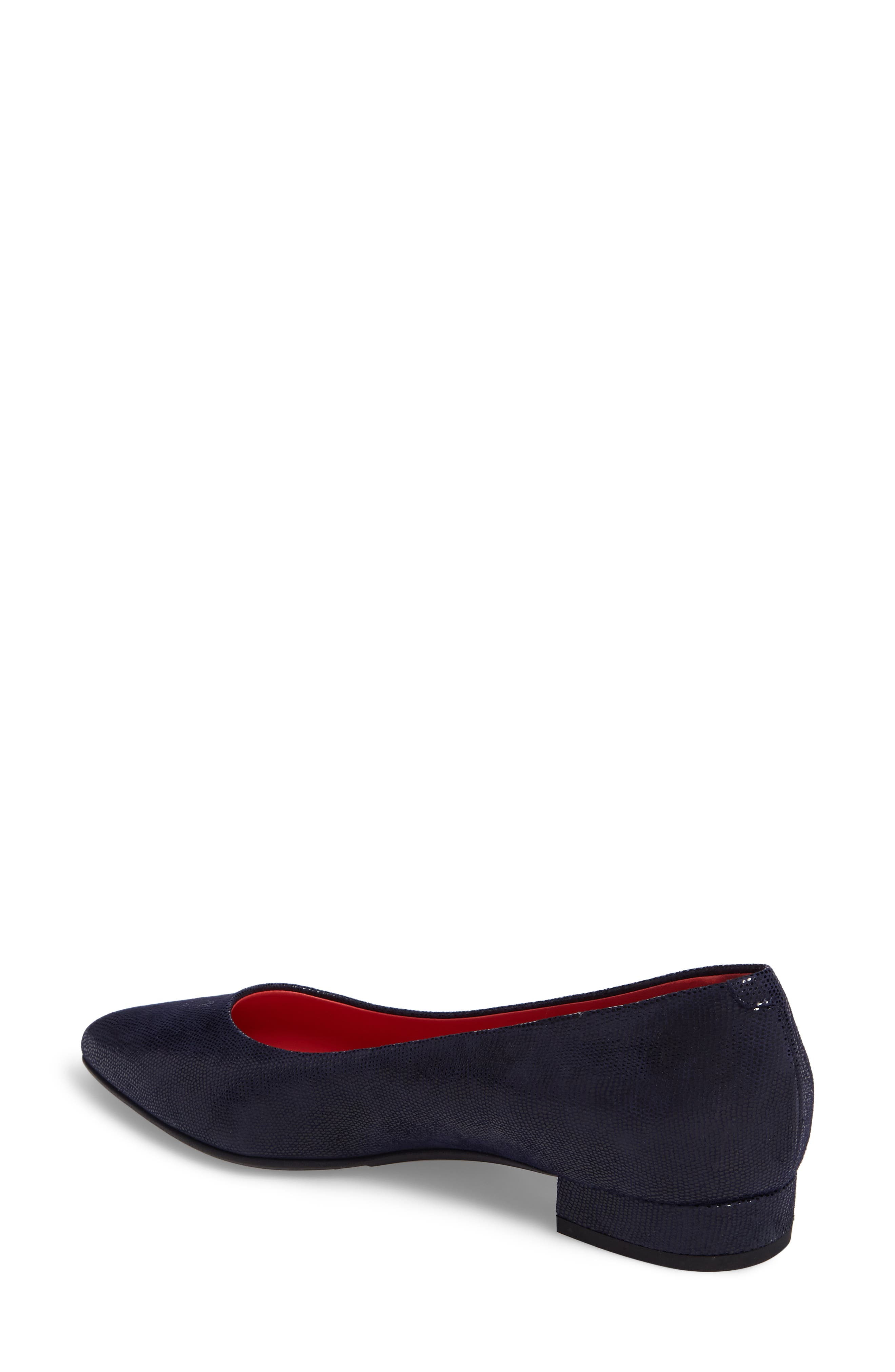 Pointy Toe Low Pump,                             Alternate thumbnail 2, color,                             Blue Leather
