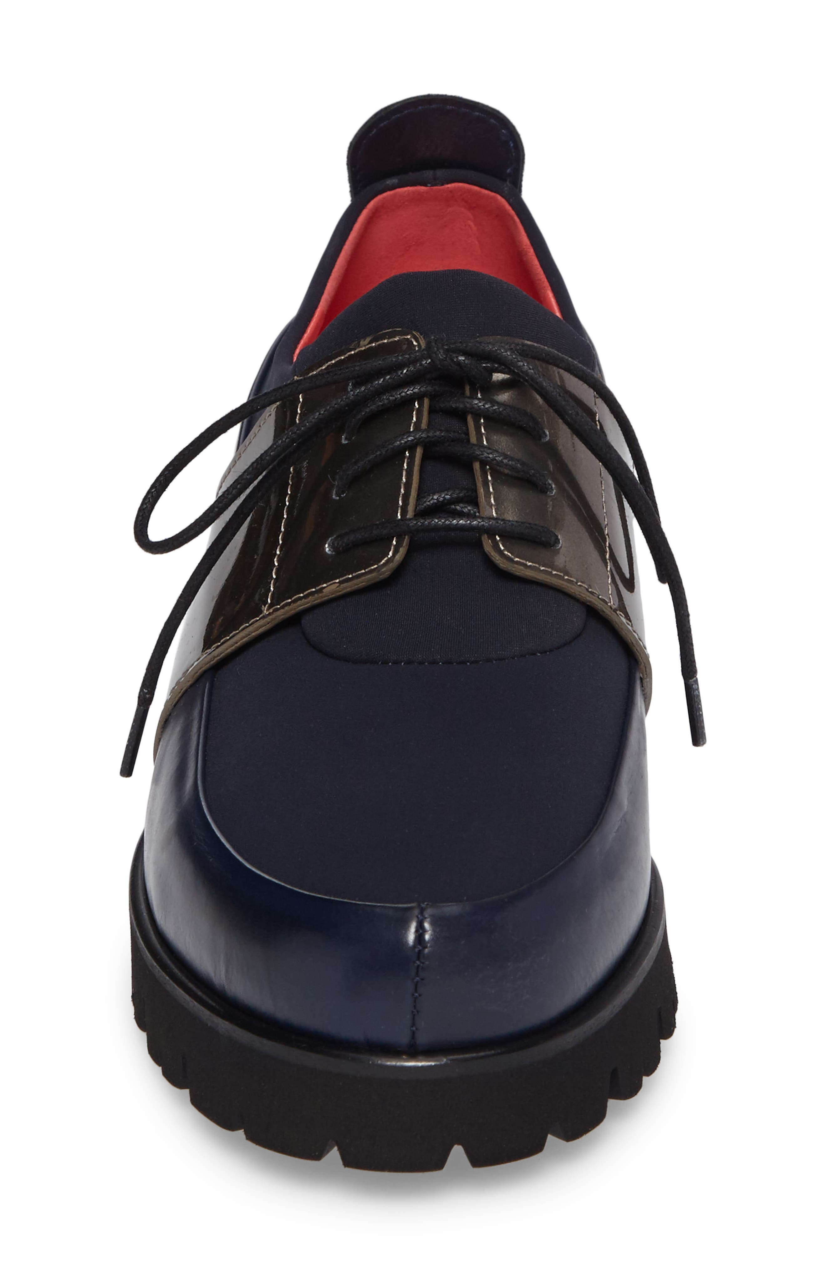 Lace-Up Oxford,                             Alternate thumbnail 4, color,                             Ink Leather