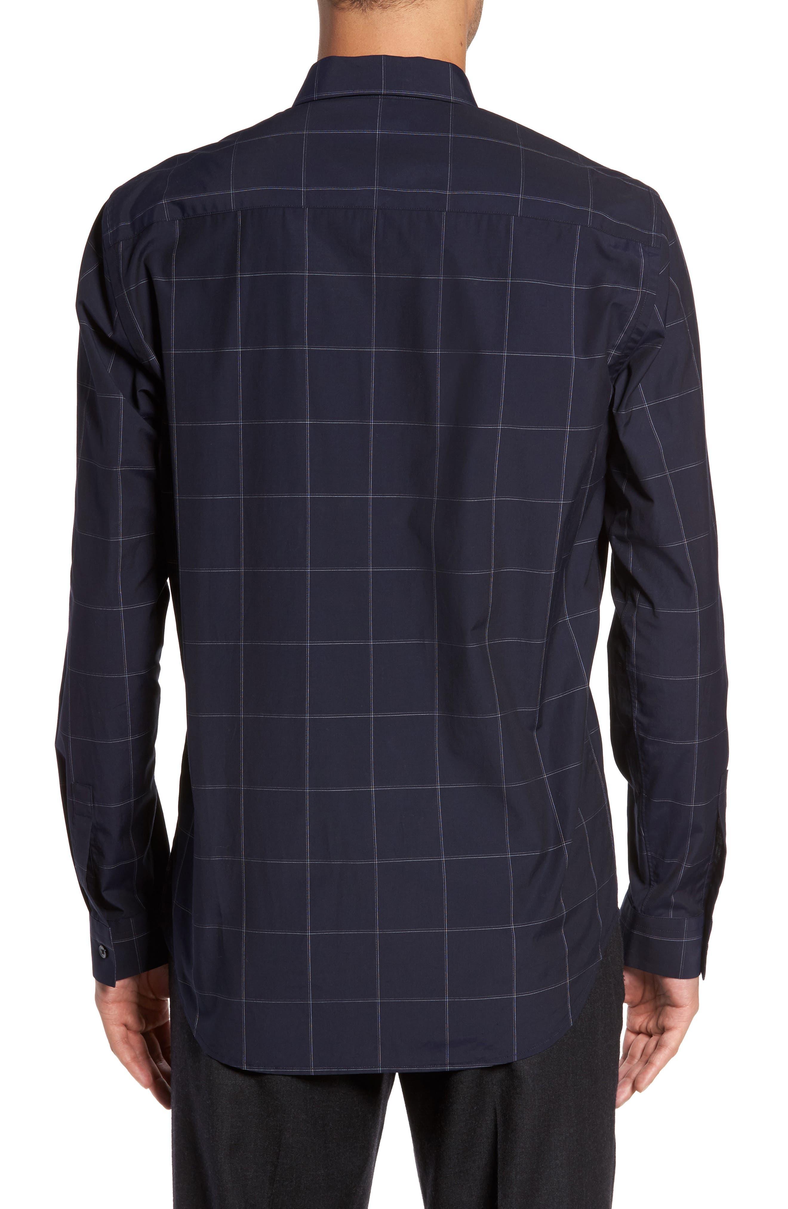 Alternate Image 2  - Theory Grid Woven Sport Shirt