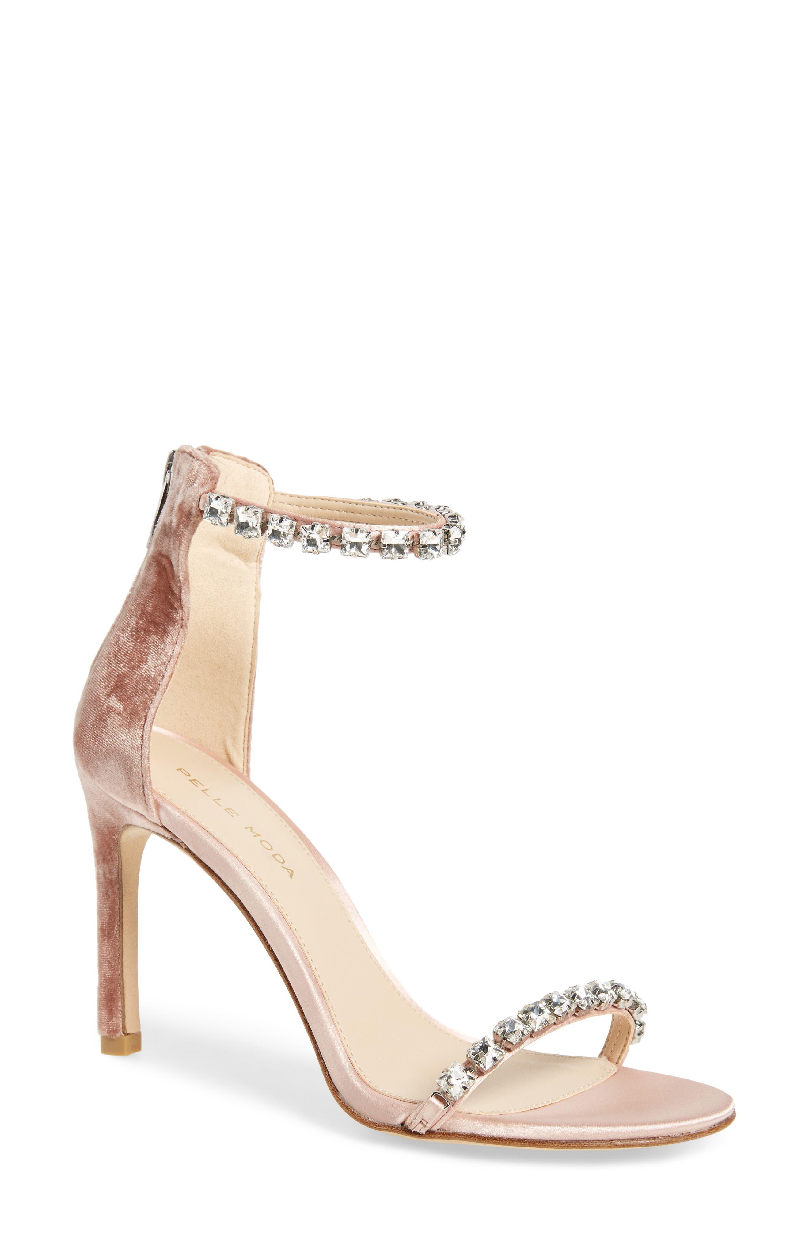 Frisk Embellished Sandal,                         Main,                         color, Blush