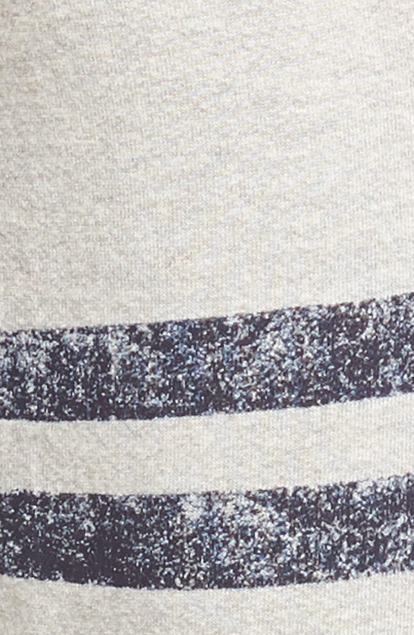 Stripe Yoga Pants,                             Alternate thumbnail 5, color,                             Soft Black