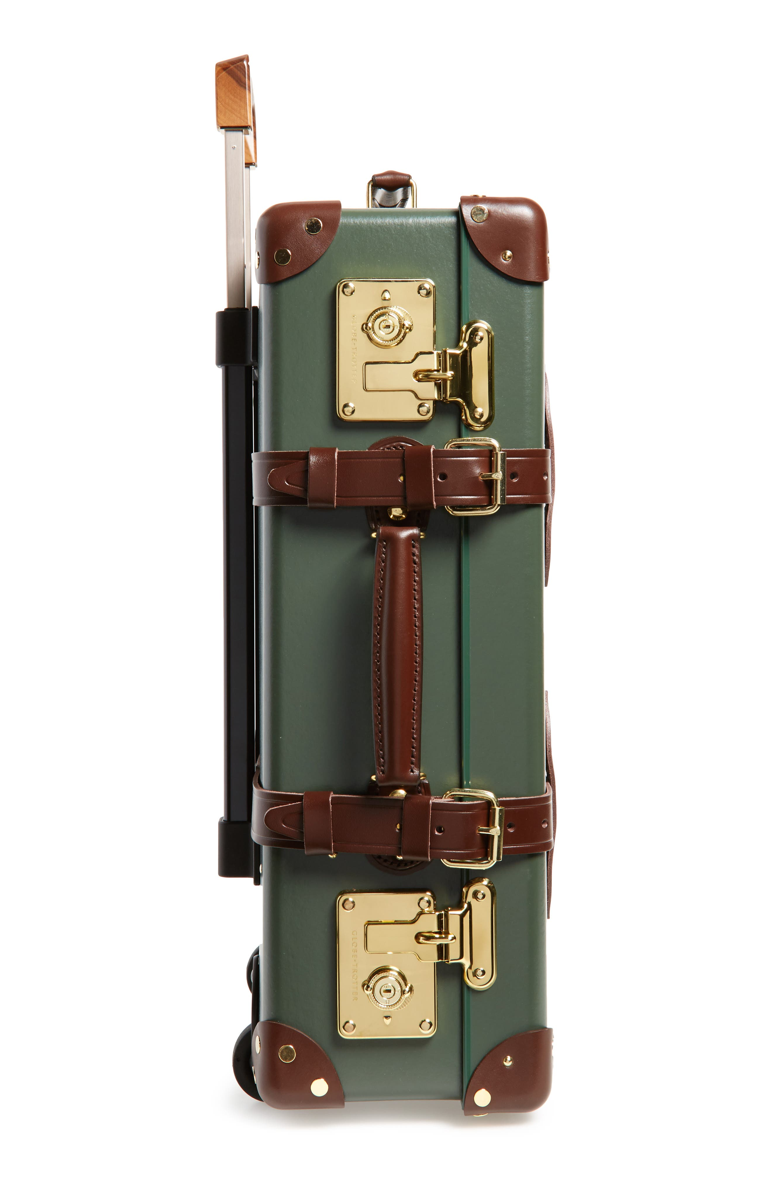 Centenary 21-Inch Hardshell Travel Trolley Case,                             Alternate thumbnail 4, color,                             Green/Tan