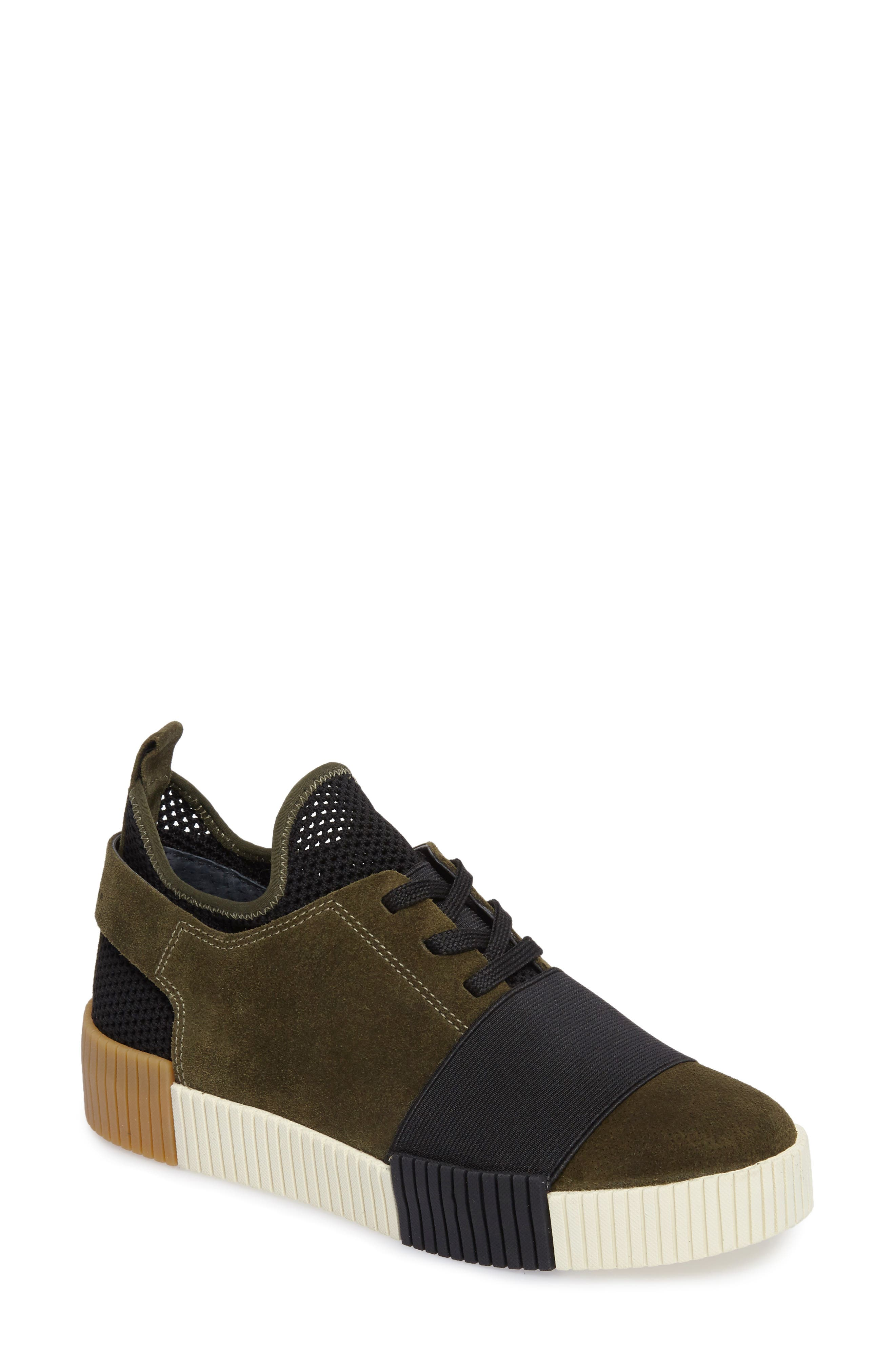 Ryley Platform Sneaker,                         Main,                         color, Green Leather